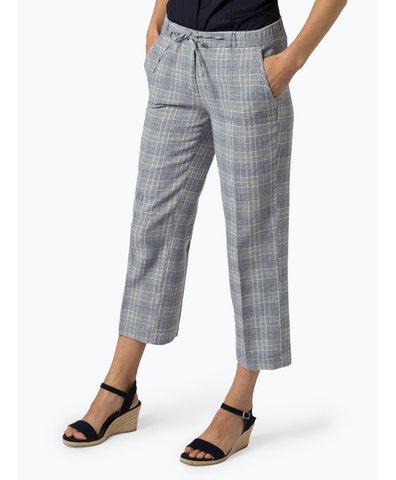 Spodnie damskie z dodatkiem lnu – Mutsuko Fine Check