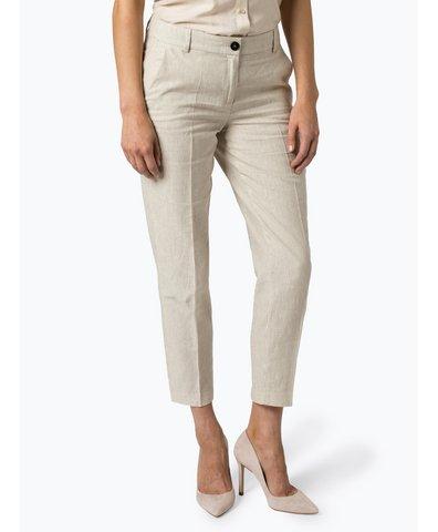 Spodnie damskie z dodatkiem lnu