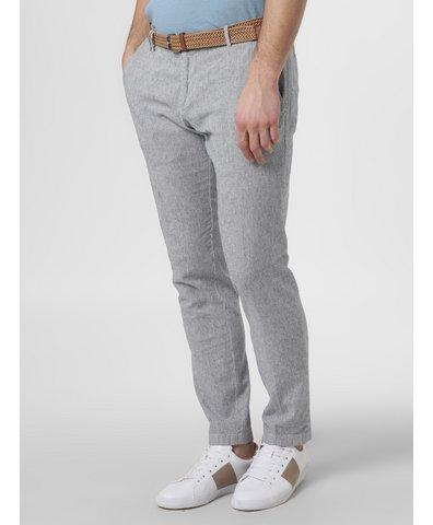 Spodnie męskie z dodatkiem lnu
