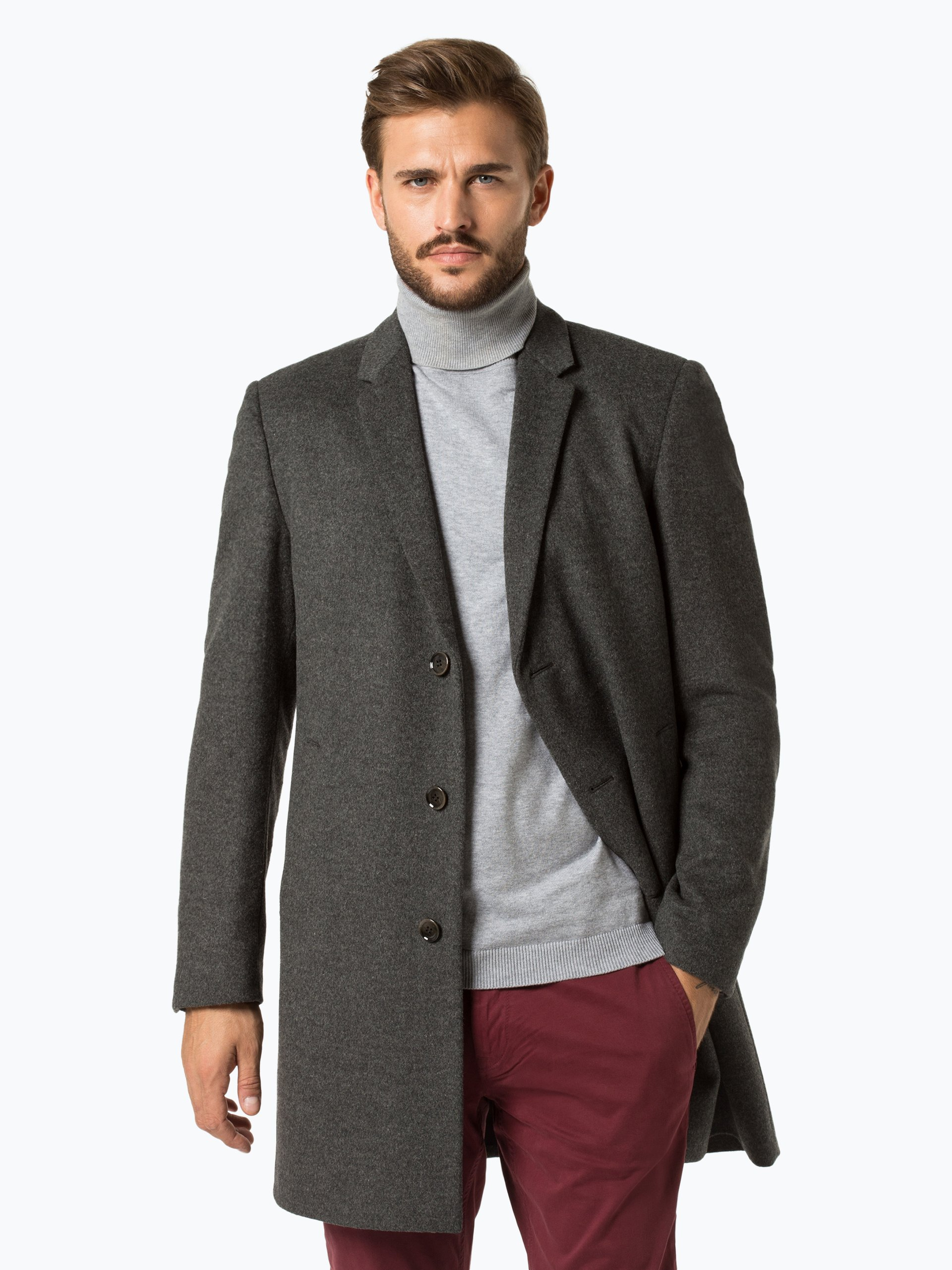 strellson herren mantel mit cashmere anteil lawson. Black Bedroom Furniture Sets. Home Design Ideas