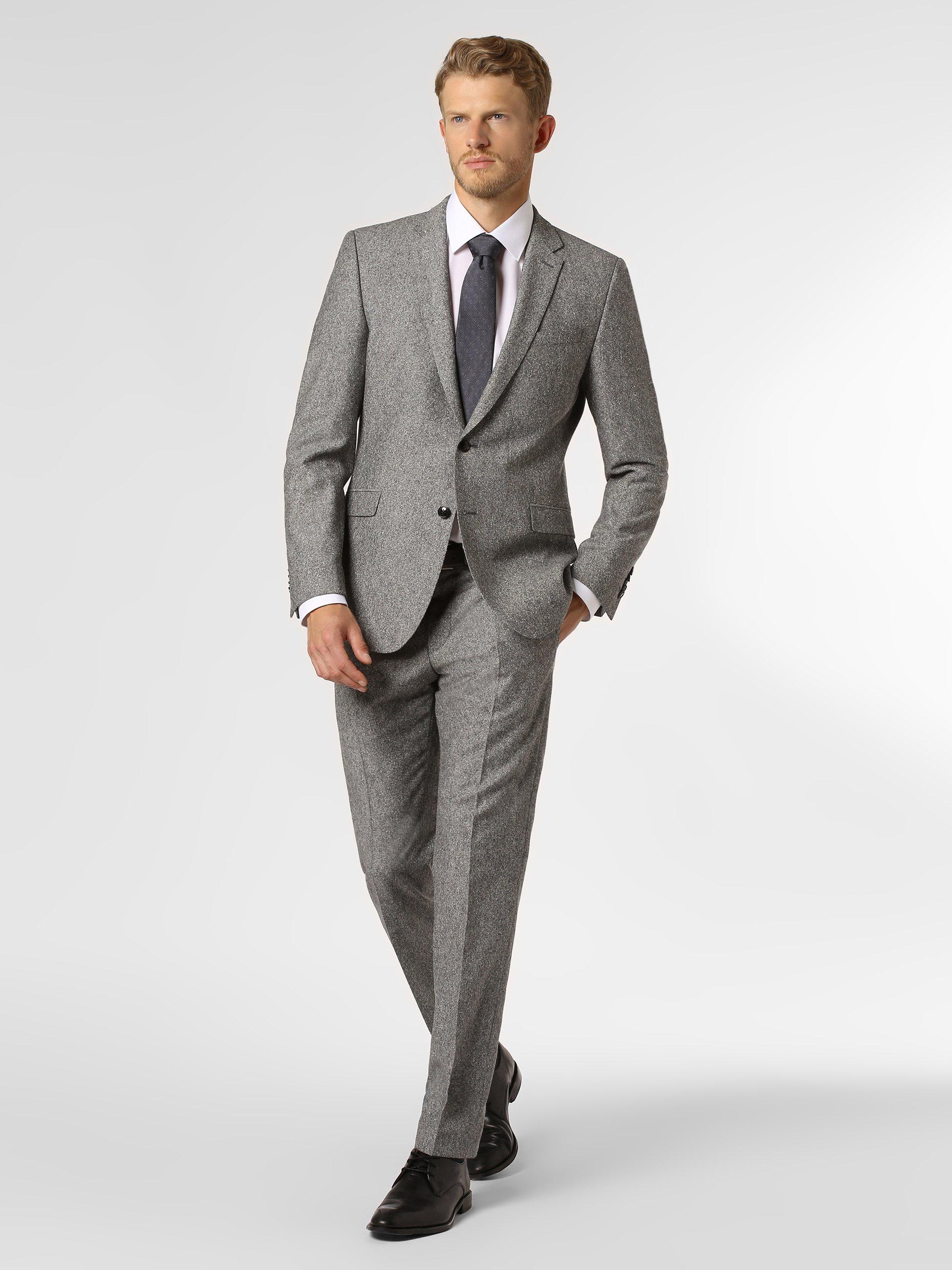 Strellson Męskie spodnie od garnituru modułowego z dodatkiem jedwabiu – Mercer