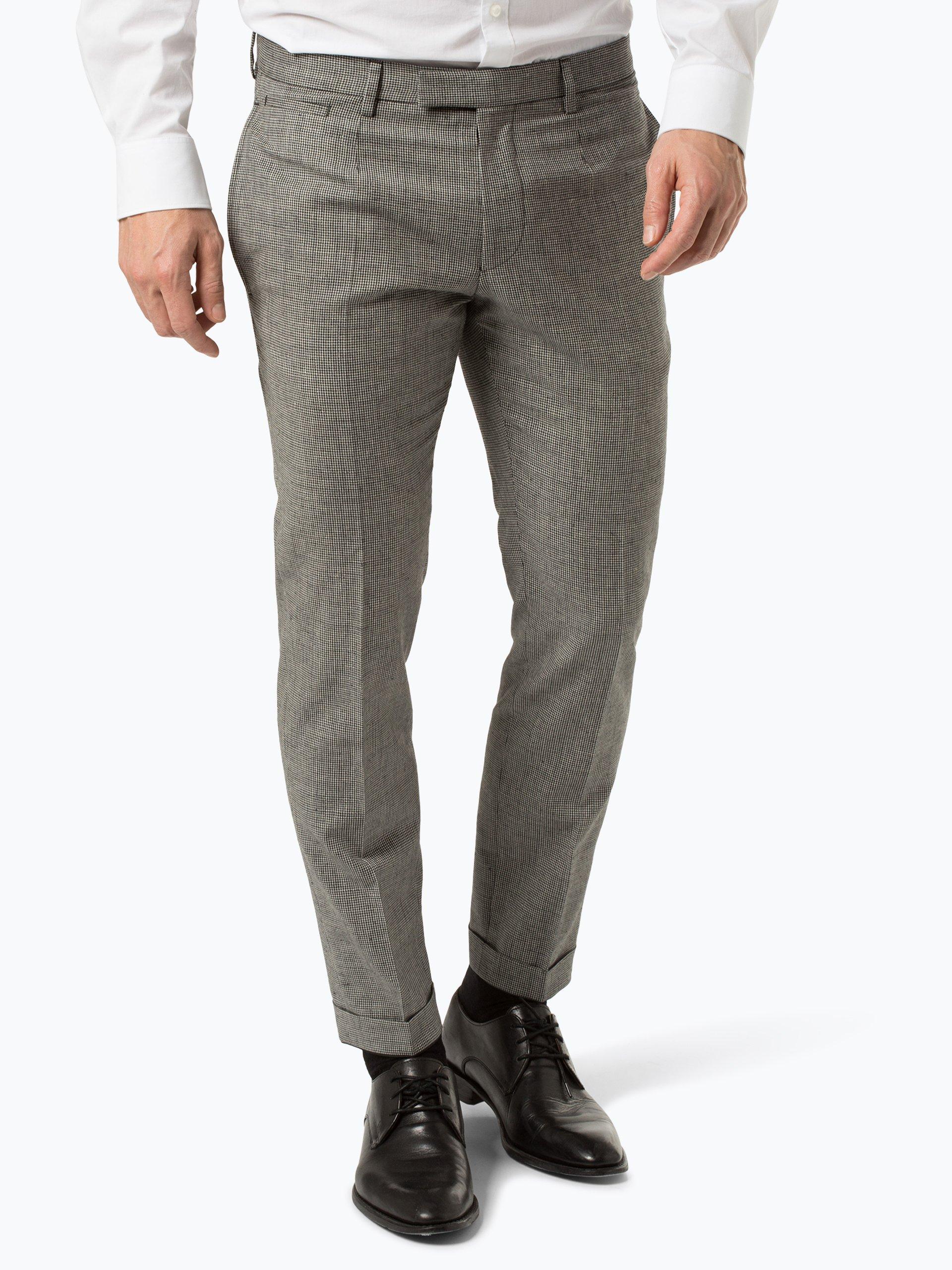 Strellson Męskie spodnie od garnituru modułowego z dodatkiem lnu – Snyder