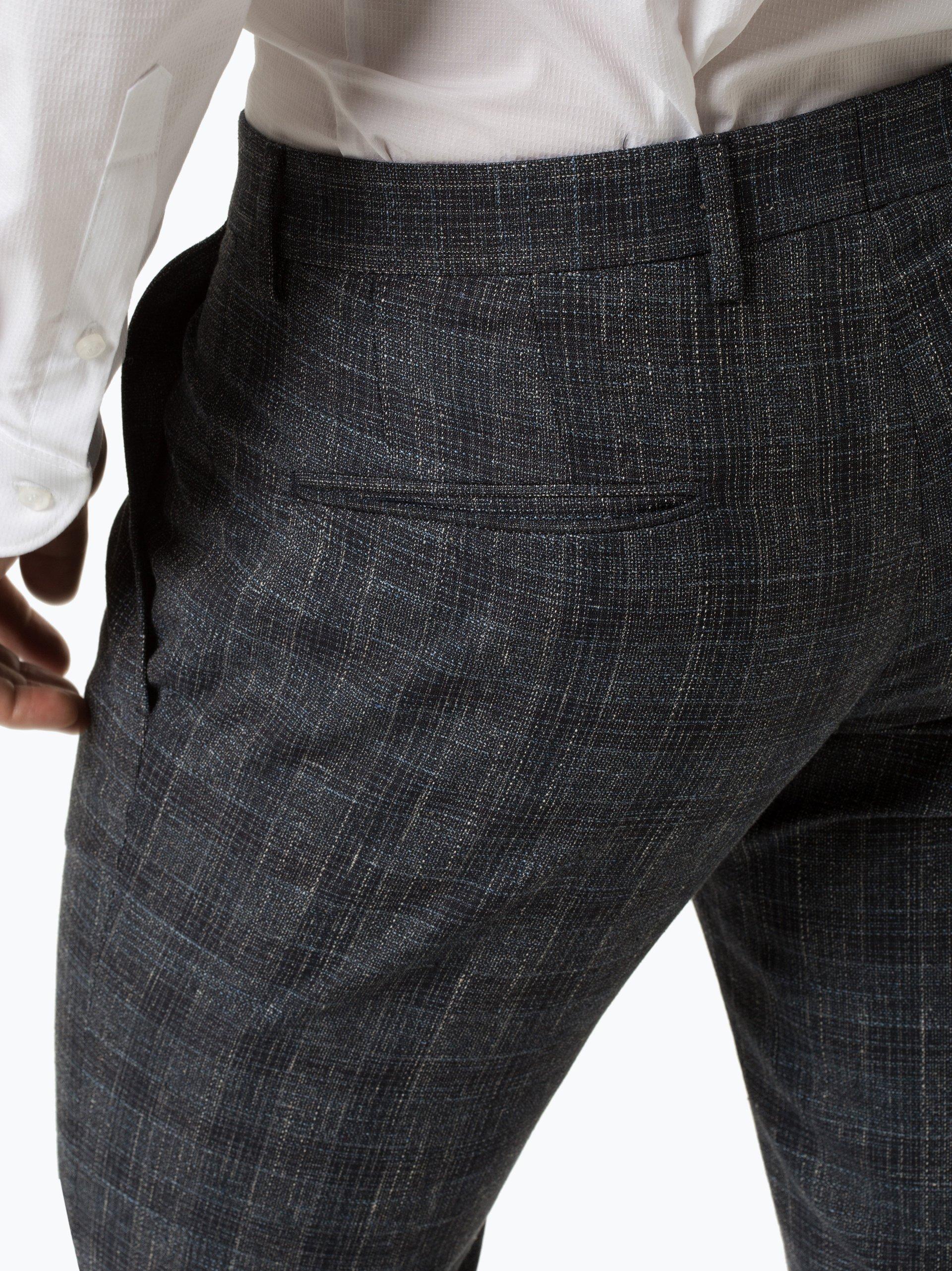 Strellson Męskie spodnie od garnituru modułowego z dodatkiem lnu – Stirling