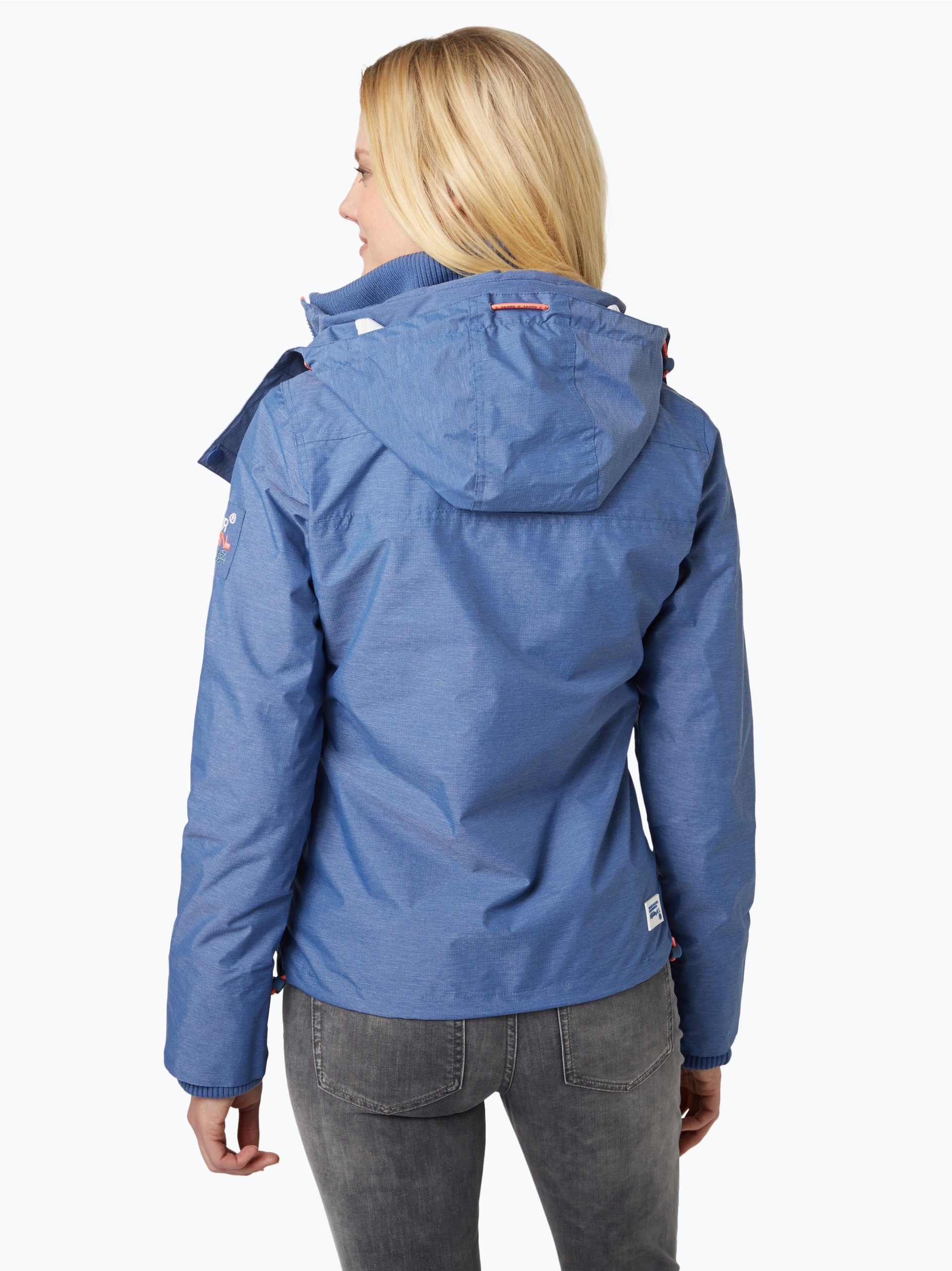 superdry damen jacke wind yachter blau uni online kaufen. Black Bedroom Furniture Sets. Home Design Ideas