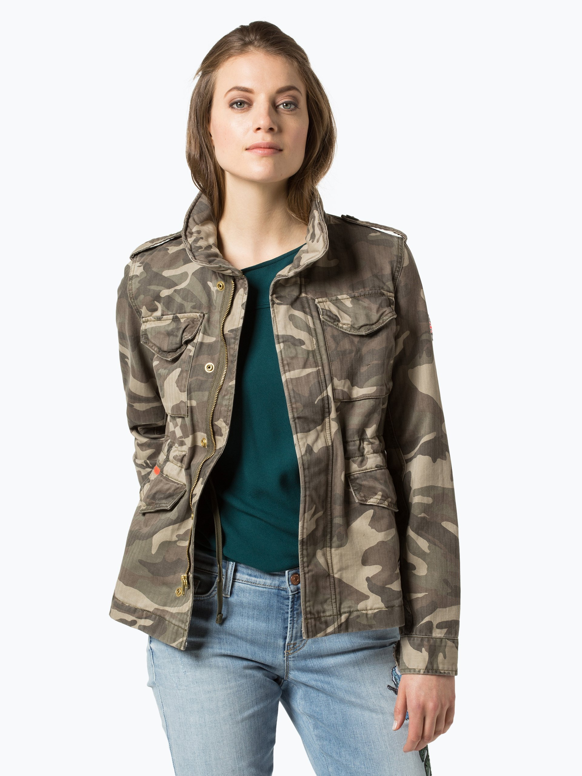 superdry damen jacke gr n kariert online kaufen vangraaf com. Black Bedroom Furniture Sets. Home Design Ideas