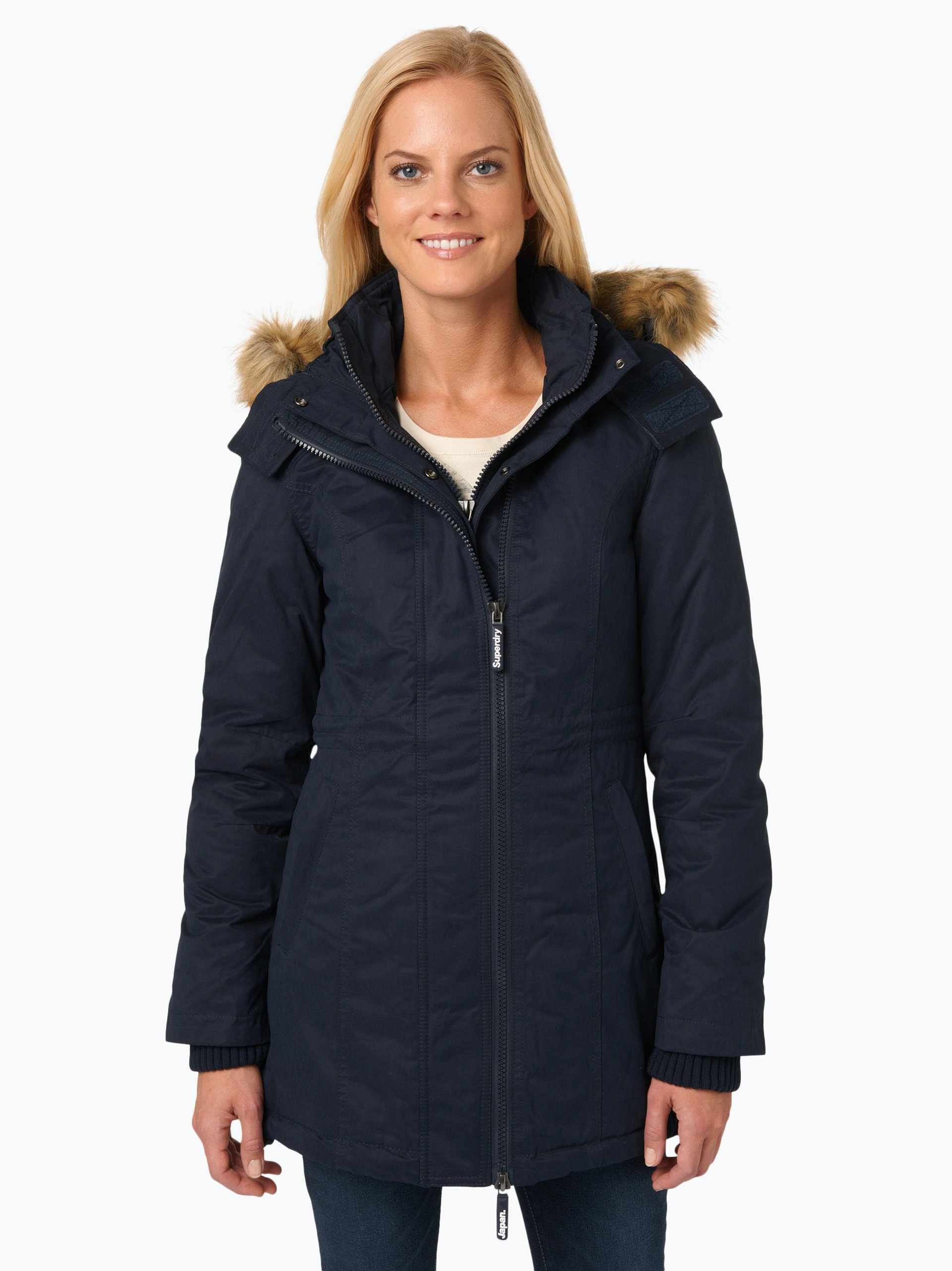 superdry damen parka marine uni online kaufen peek und. Black Bedroom Furniture Sets. Home Design Ideas