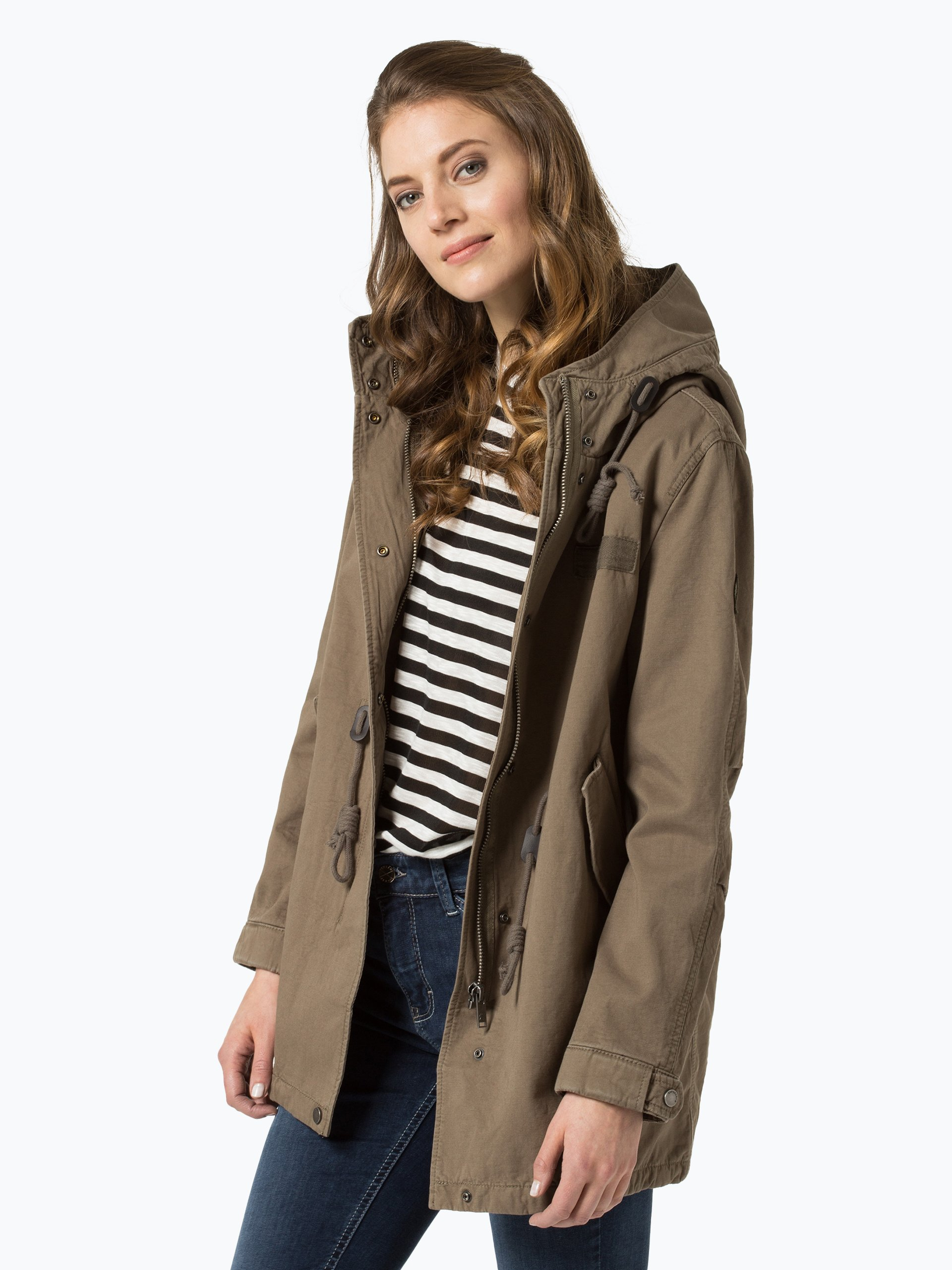 superdry damen parka khaki uni online kaufen peek und. Black Bedroom Furniture Sets. Home Design Ideas