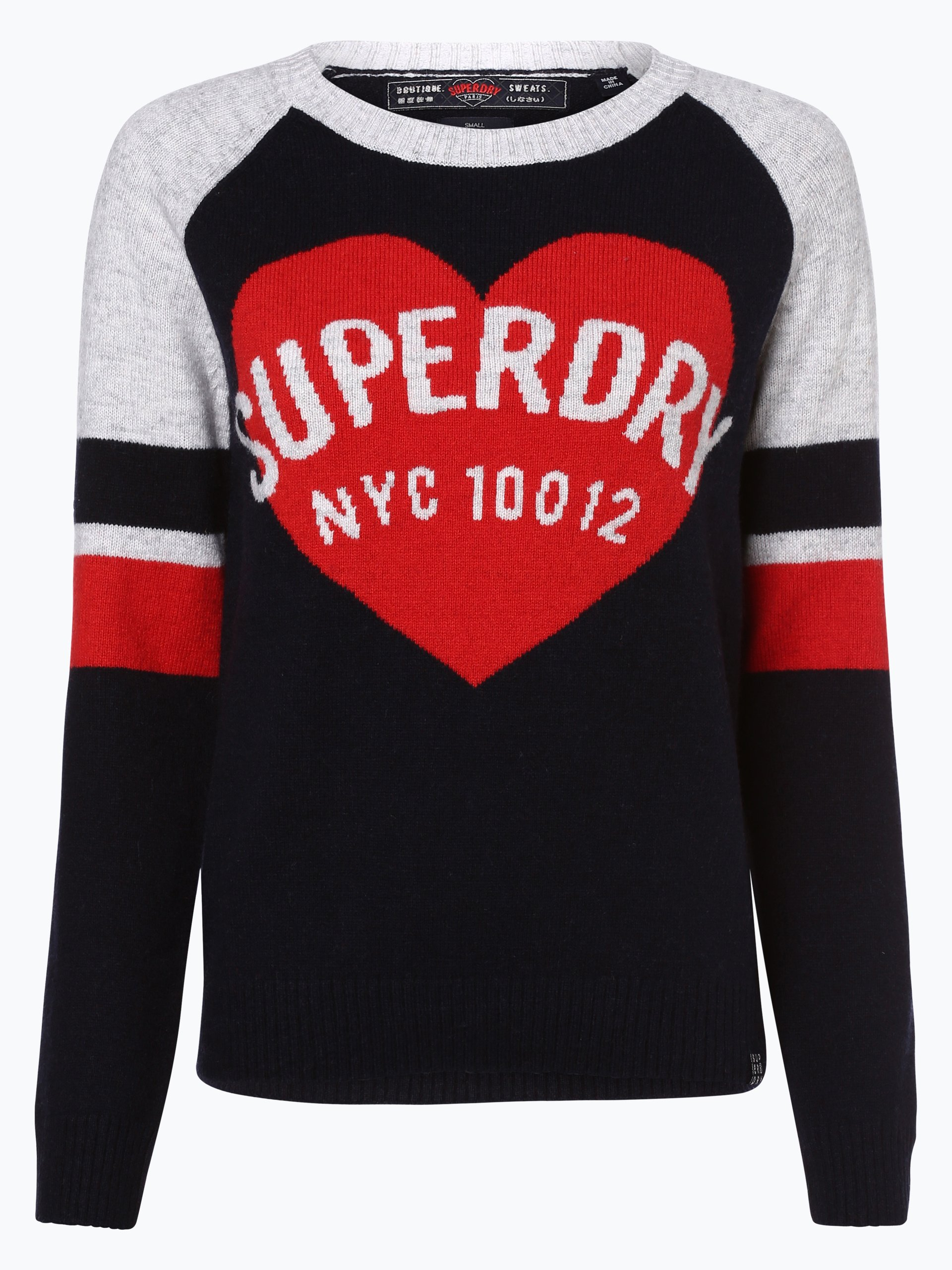superdry damen pullover marine uni online kaufen. Black Bedroom Furniture Sets. Home Design Ideas