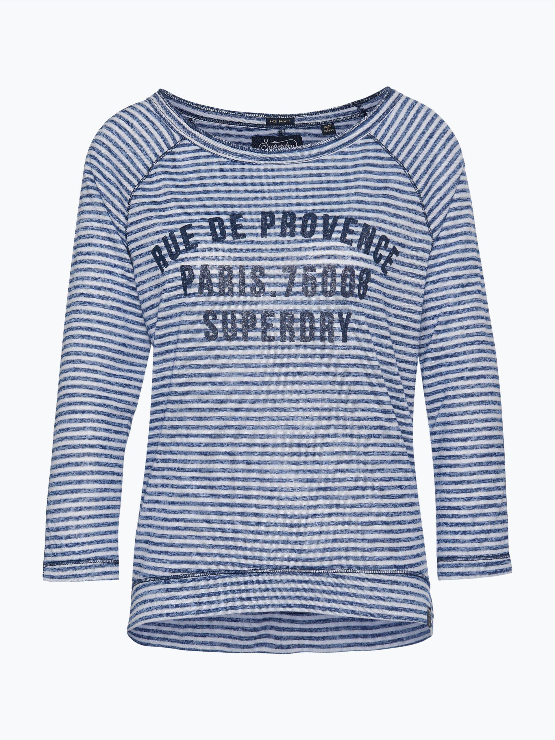 superdry damen shirt marine gestreift online kaufen peek. Black Bedroom Furniture Sets. Home Design Ideas