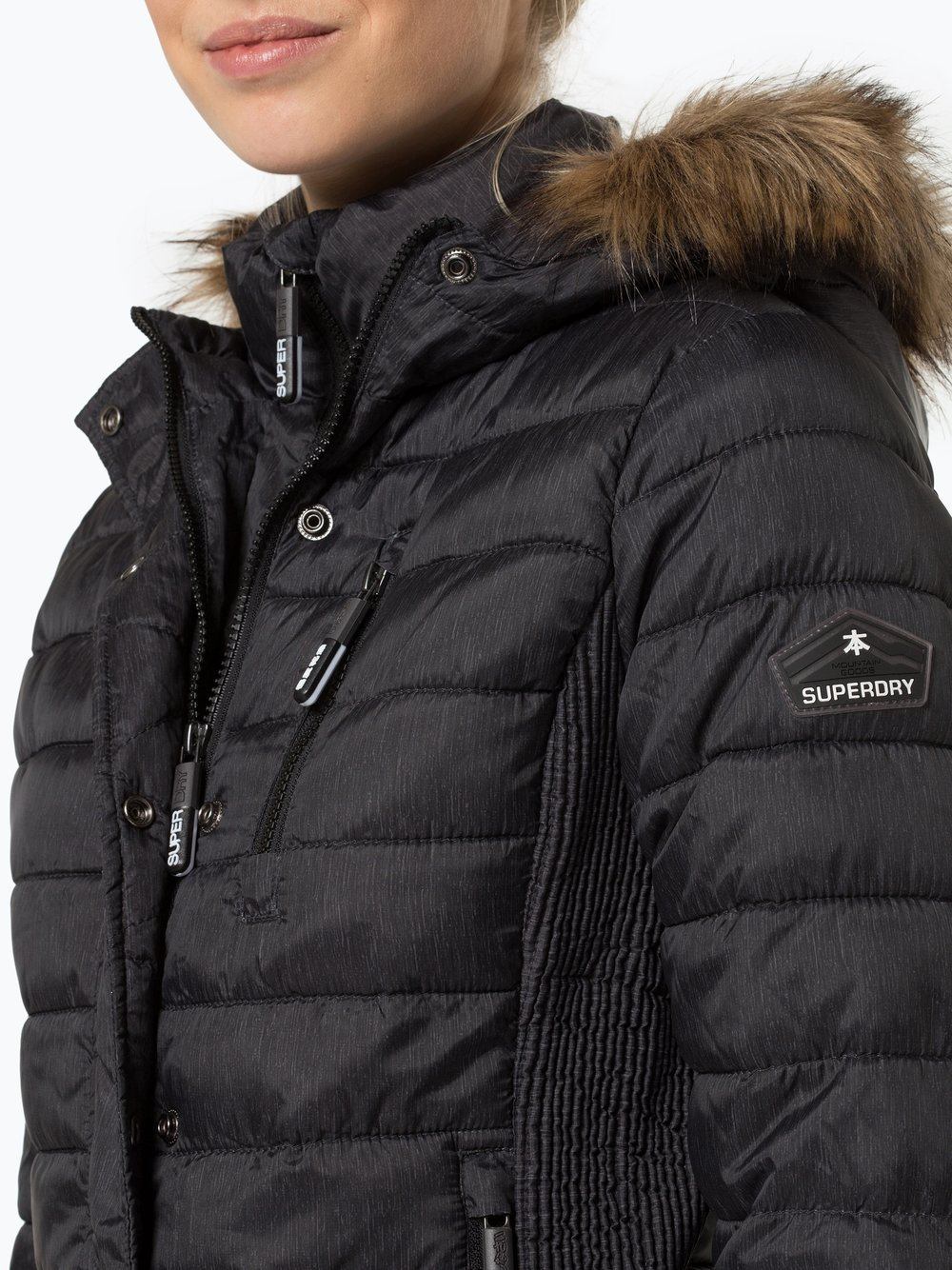 the latest c72b7 55486 Superdry Damen Steppjacke - Fuji Slim Double Zip Hood online ...