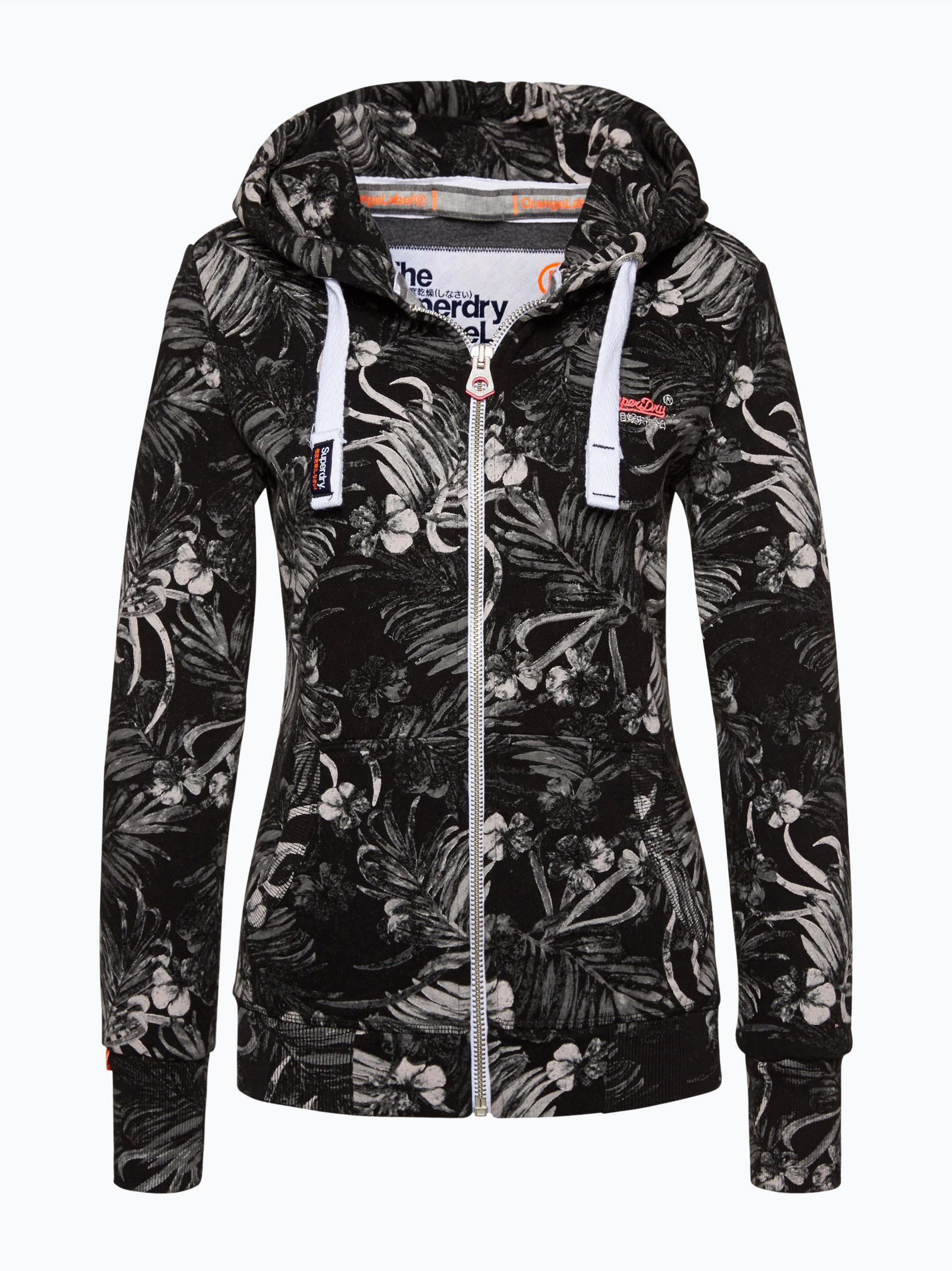 superdry damen sweatjacke schwarz gemustert online kaufen vangraaf com. Black Bedroom Furniture Sets. Home Design Ideas