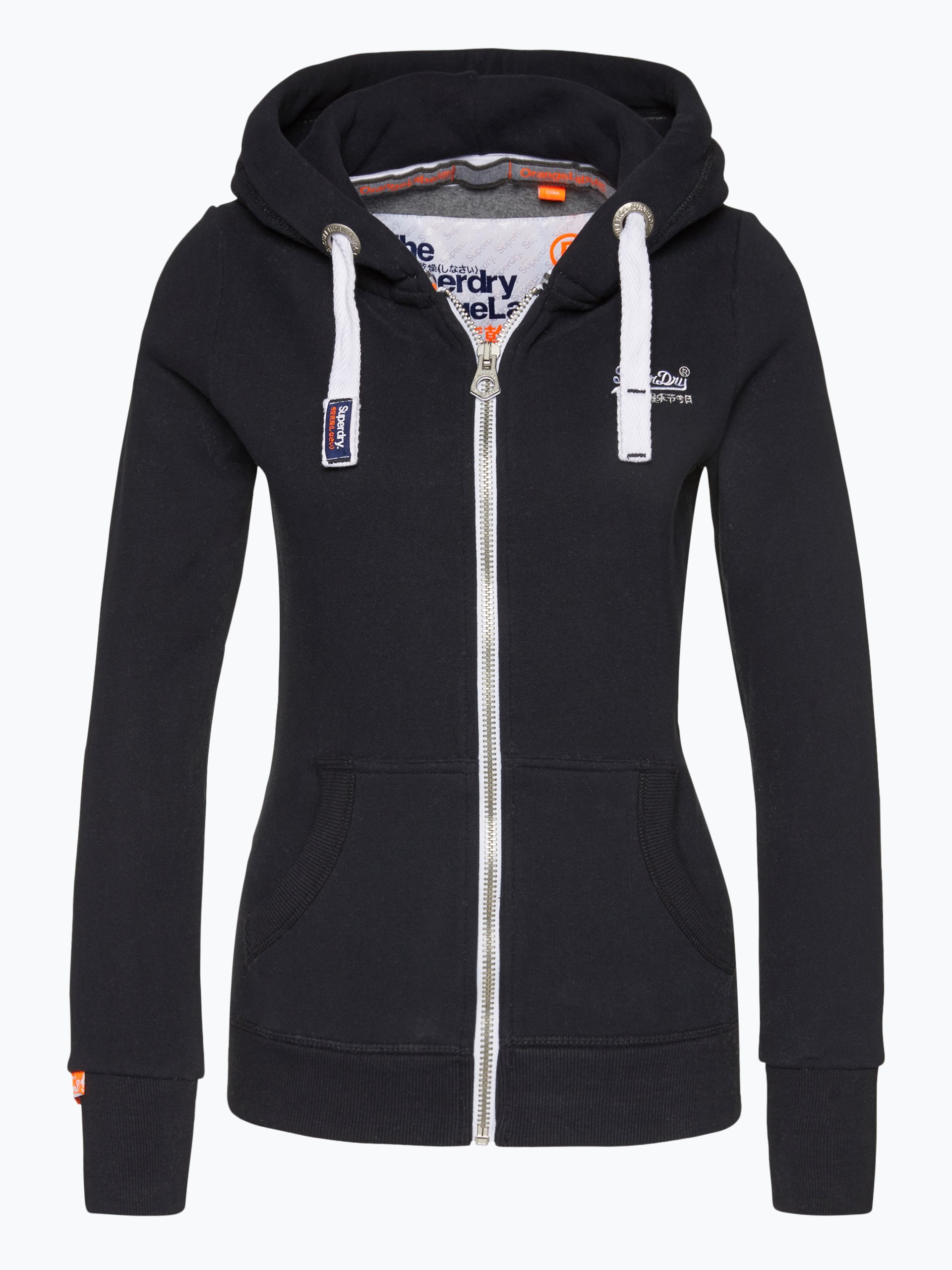 superdry damen sweatjacke marine uni online kaufen. Black Bedroom Furniture Sets. Home Design Ideas