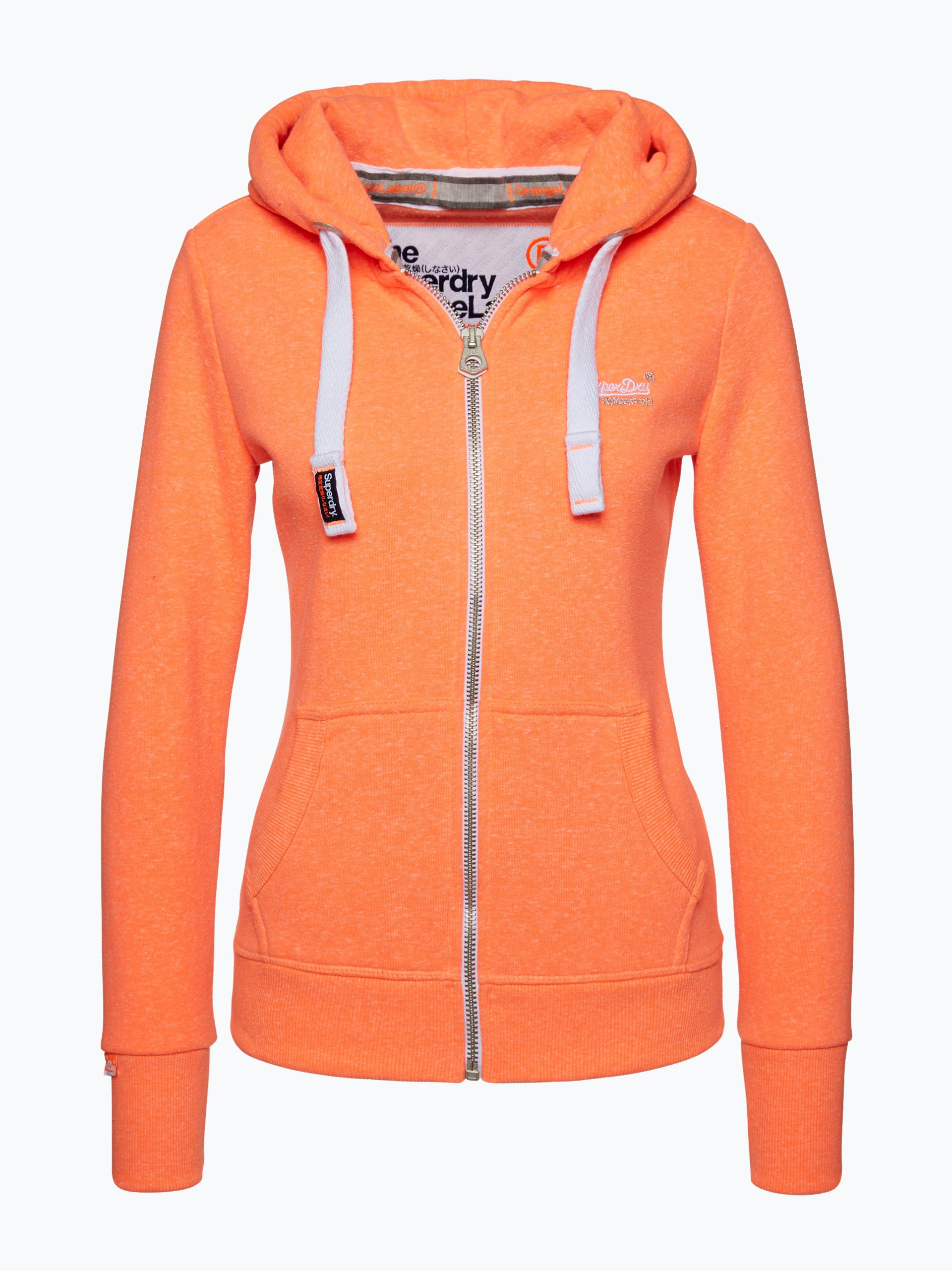superdry damen sweatjacke orange uni online kaufen. Black Bedroom Furniture Sets. Home Design Ideas