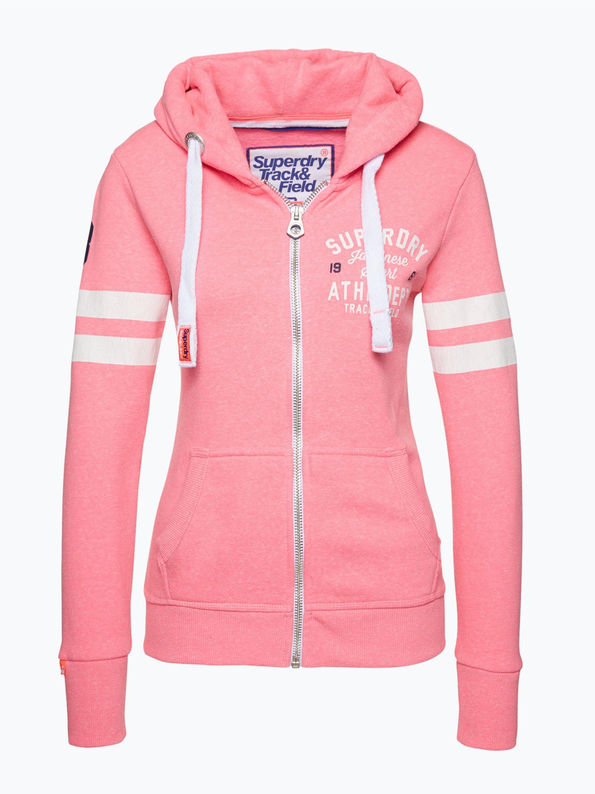 superdry damen sweatjacke pink uni online kaufen peek und cloppenburg de. Black Bedroom Furniture Sets. Home Design Ideas