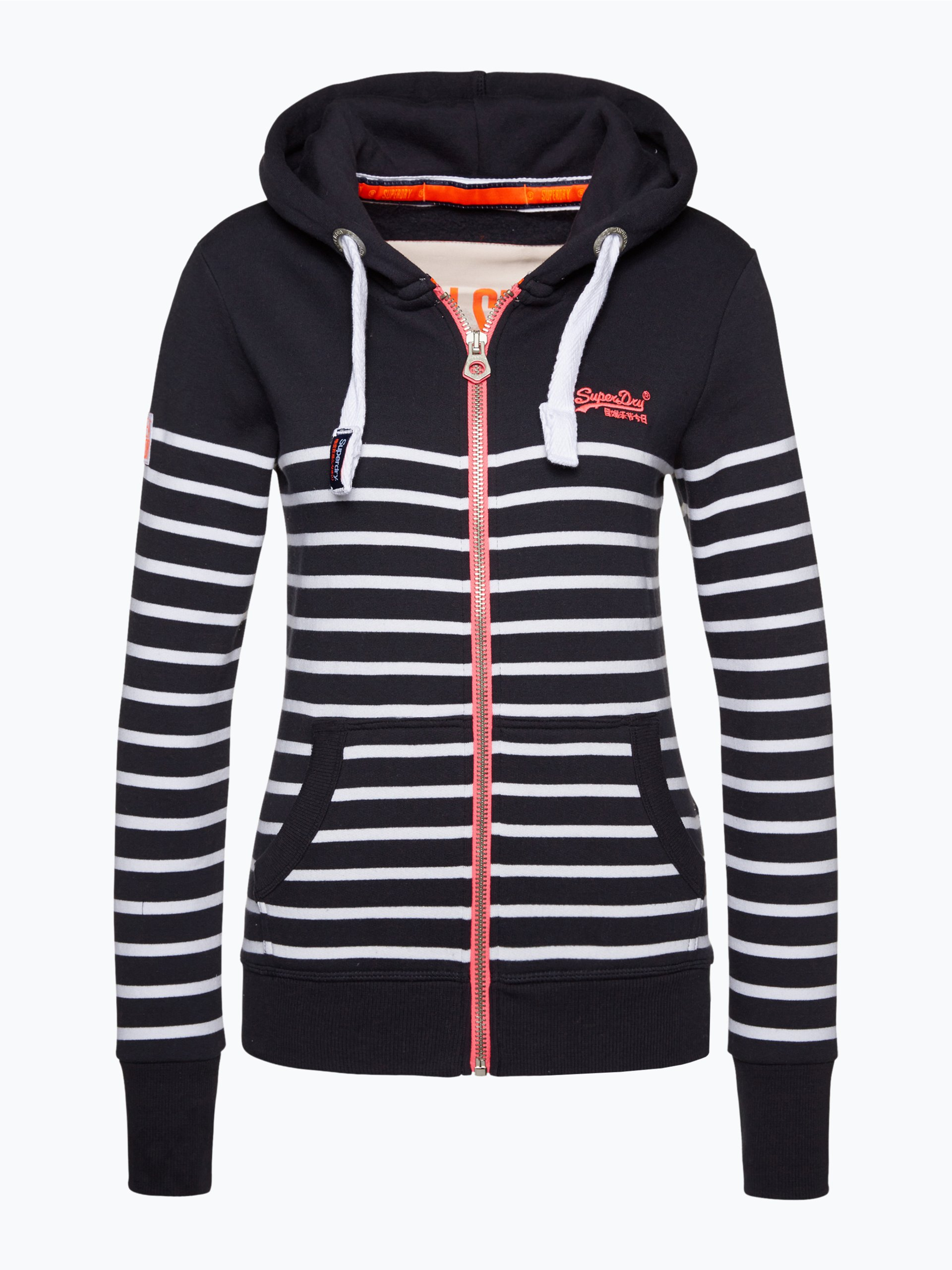 superdry damen sweatjacke marine gestreift online kaufen. Black Bedroom Furniture Sets. Home Design Ideas