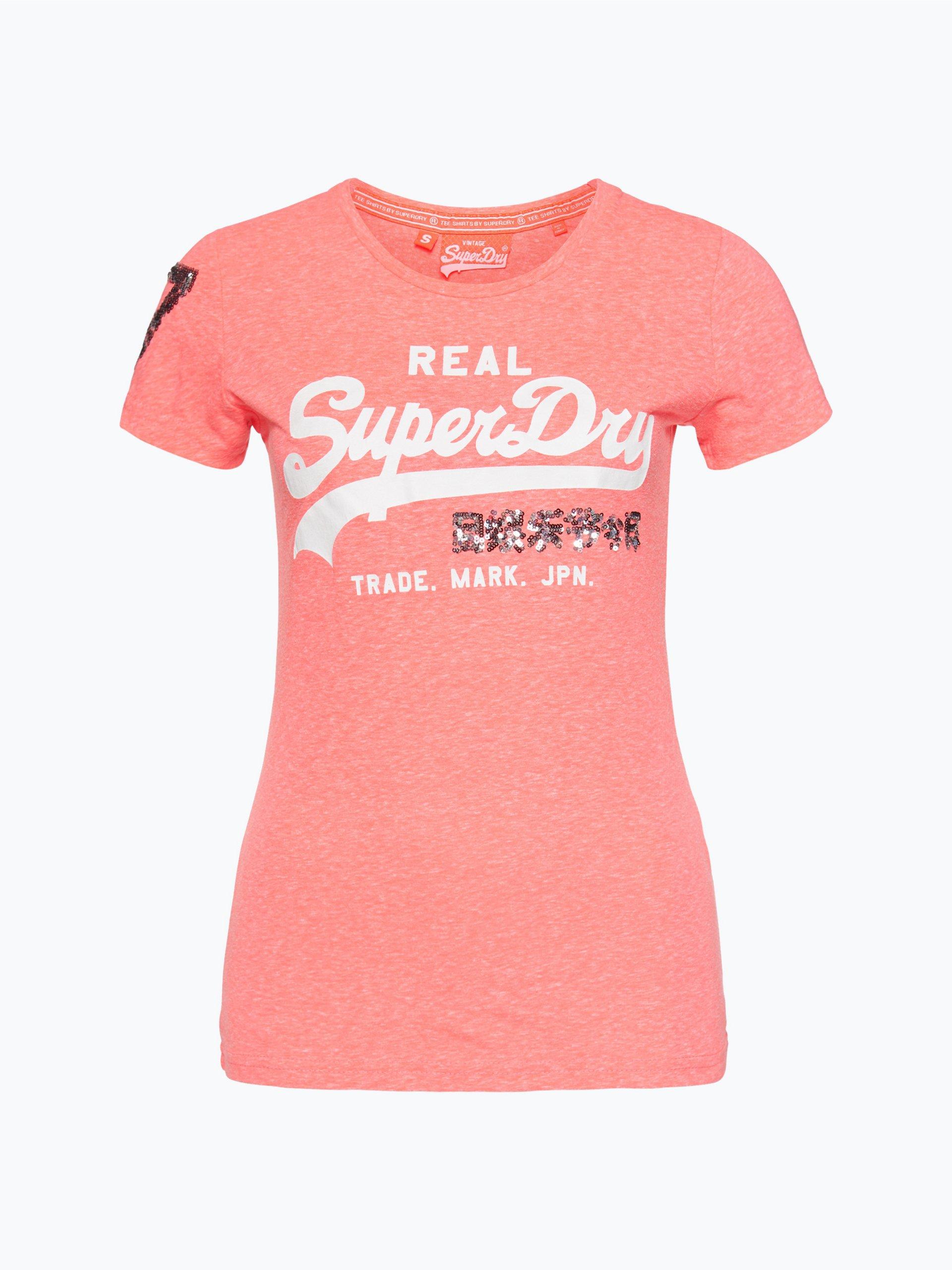 superdry damen t shirt rosa uni online kaufen vangraaf com. Black Bedroom Furniture Sets. Home Design Ideas