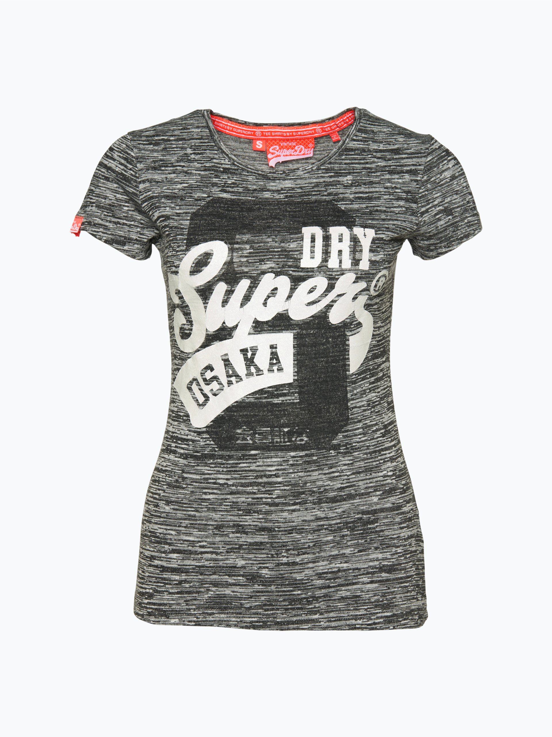 superdry damen t shirt anthrazit uni online kaufen. Black Bedroom Furniture Sets. Home Design Ideas