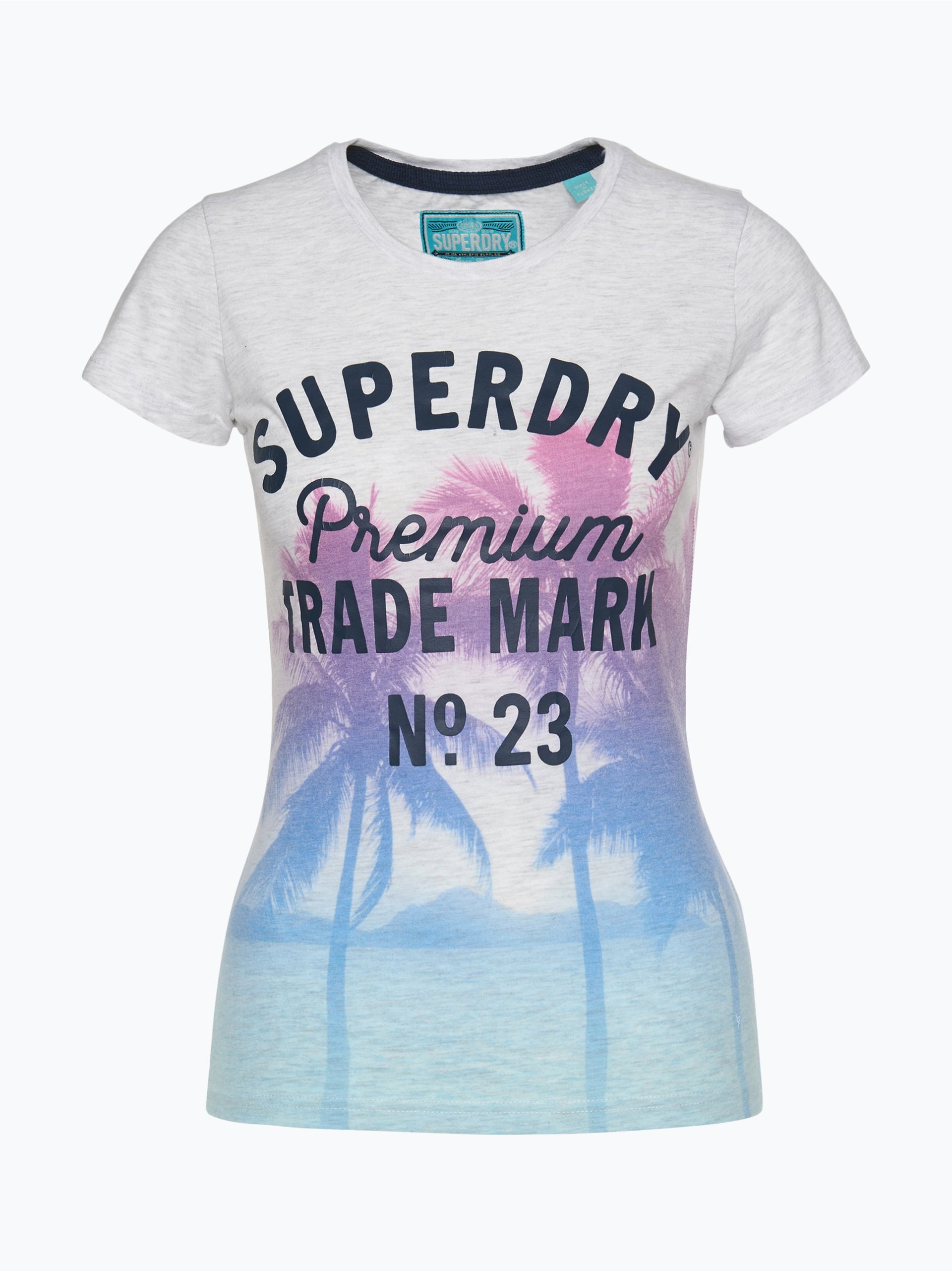 superdry damen t shirt grau uni online kaufen vangraaf com. Black Bedroom Furniture Sets. Home Design Ideas