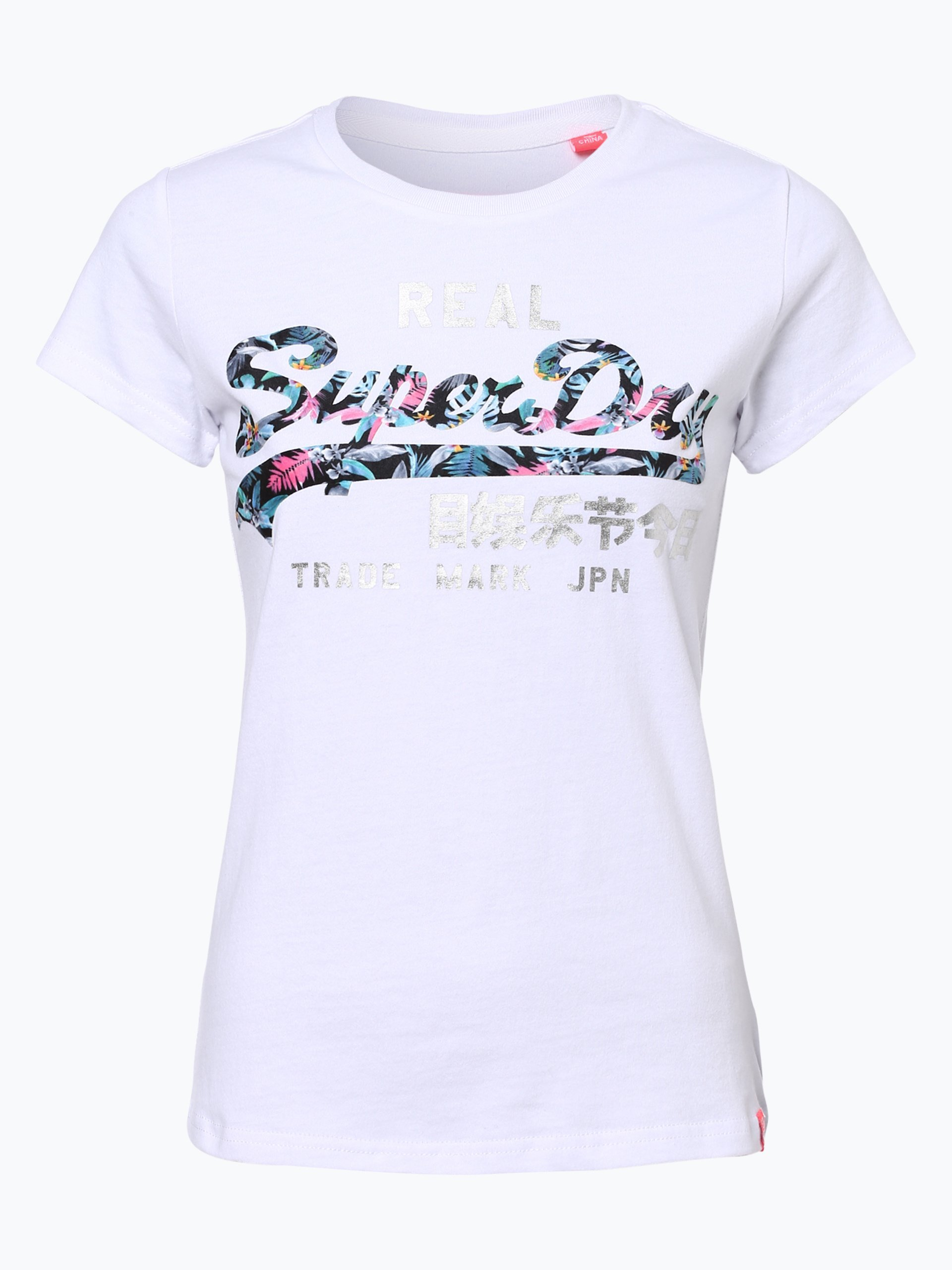 superdry damen t shirt wei gemustert online kaufen. Black Bedroom Furniture Sets. Home Design Ideas