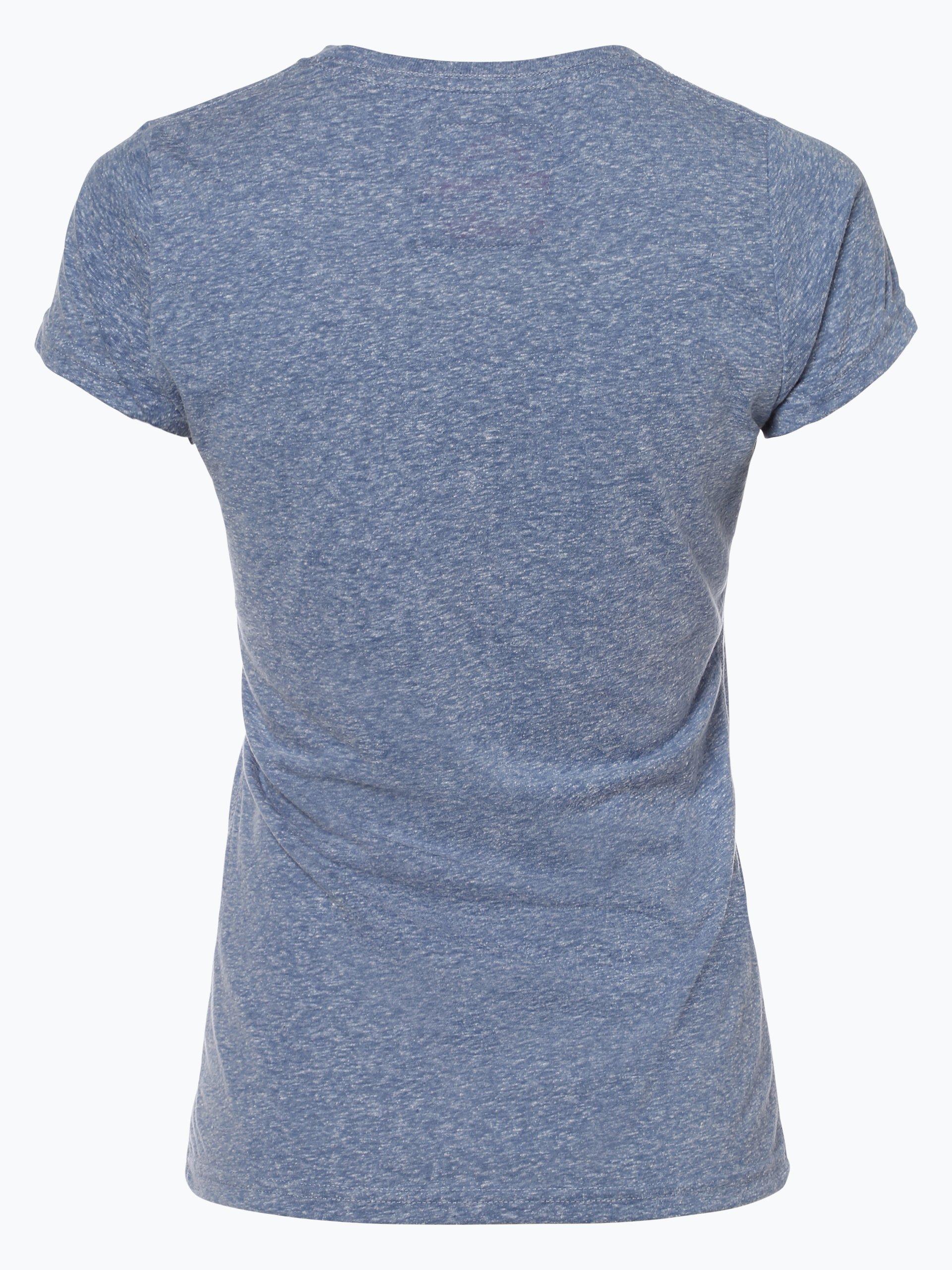 superdry damen t shirt royal denim uni online kaufen. Black Bedroom Furniture Sets. Home Design Ideas