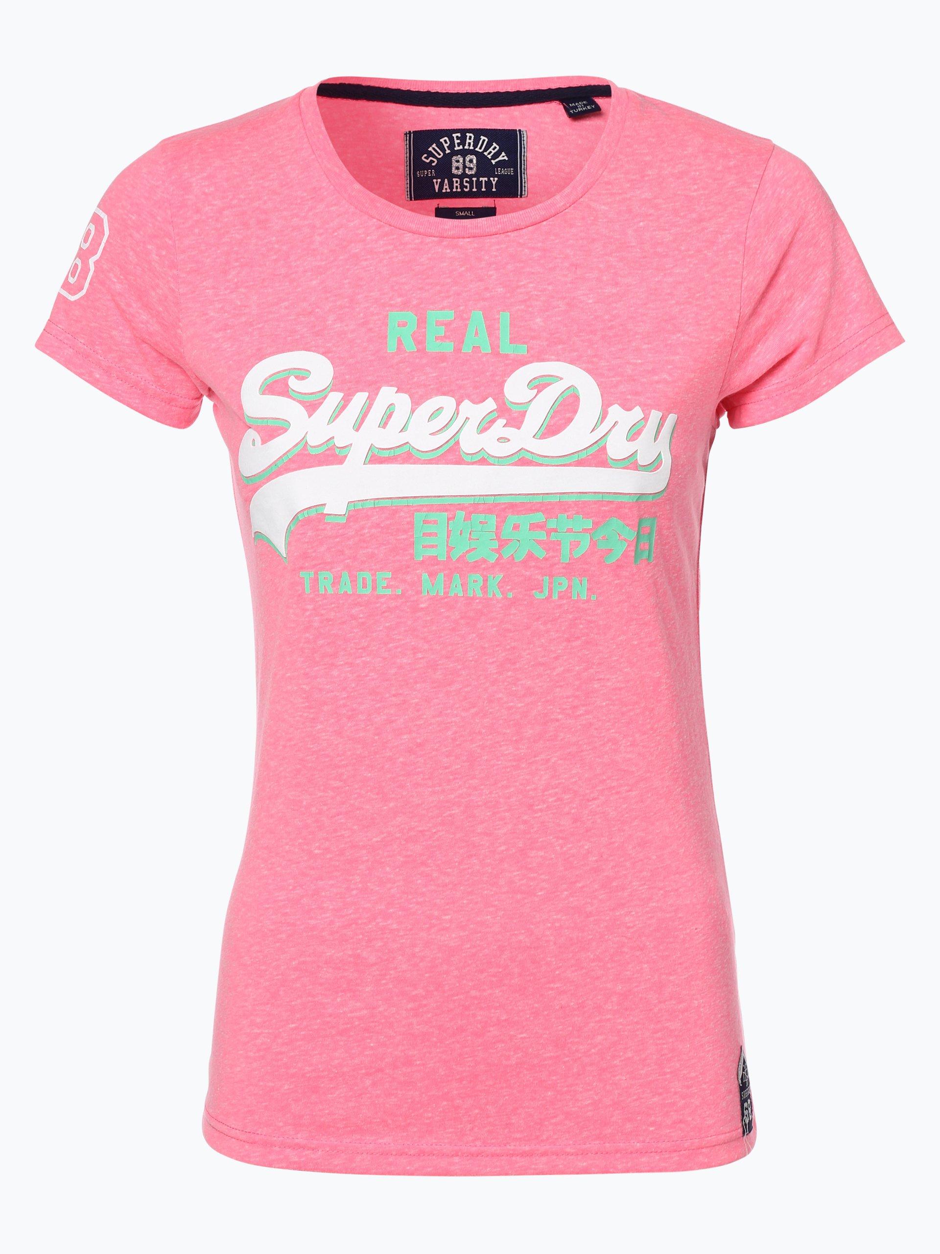 superdry damen t shirt pink rosa gemustert online kaufen. Black Bedroom Furniture Sets. Home Design Ideas