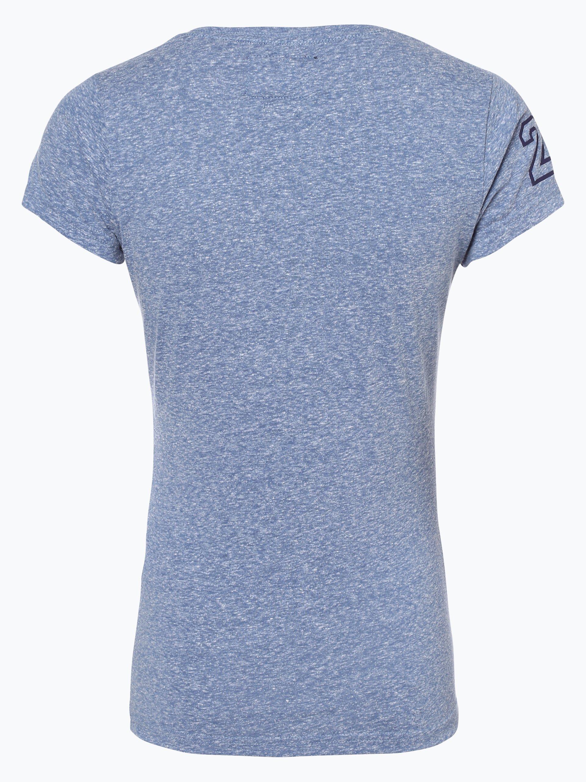 superdry damen t shirt hellblau blau gemustert online. Black Bedroom Furniture Sets. Home Design Ideas