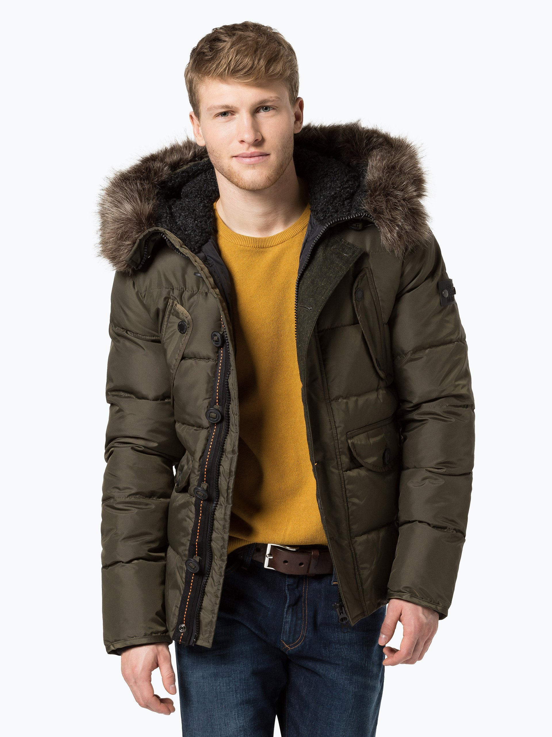 superdry herren jacke chinook khaki uni online kaufen. Black Bedroom Furniture Sets. Home Design Ideas