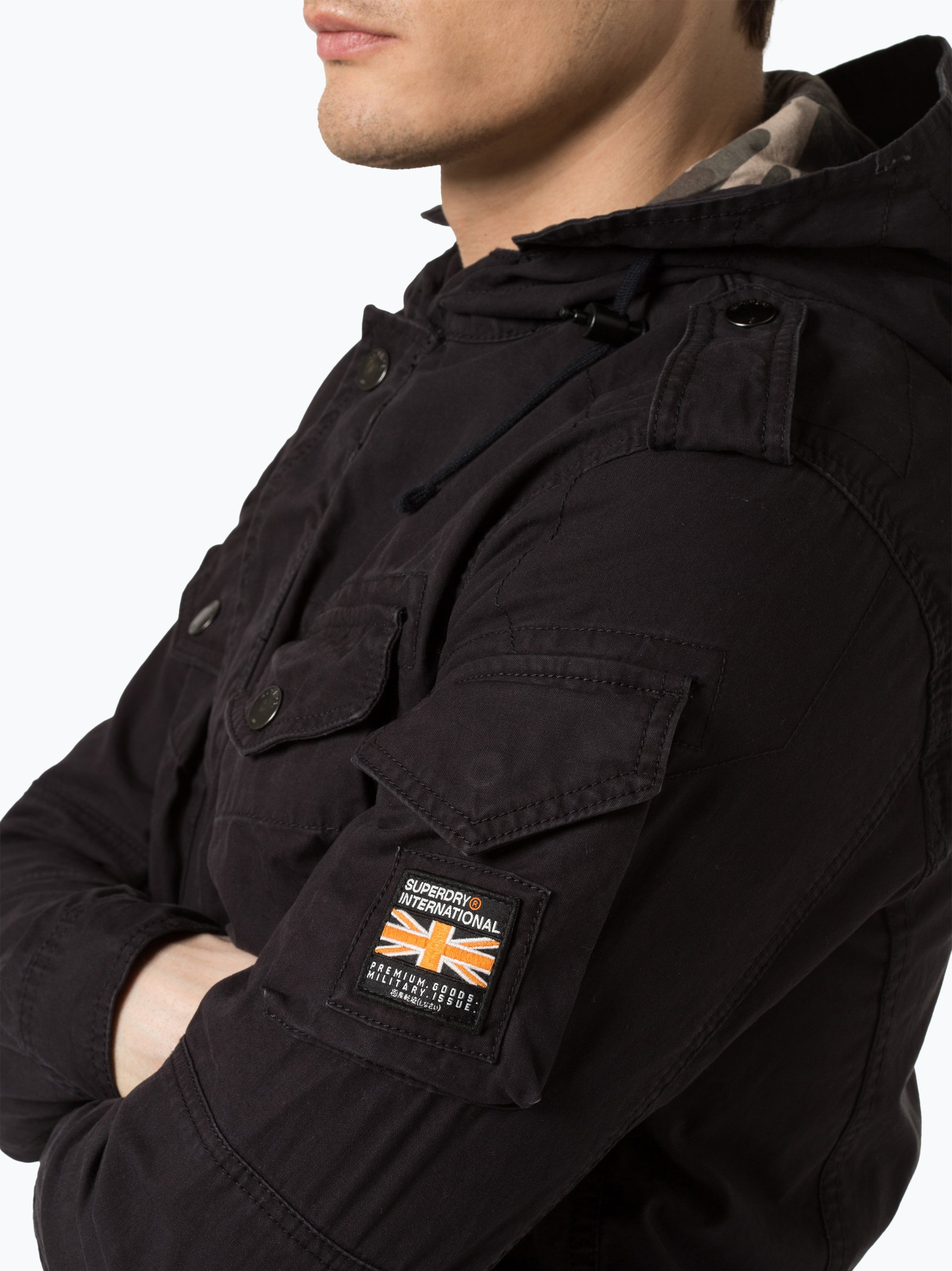 superdry herren jacke schwarz uni online kaufen vangraaf com. Black Bedroom Furniture Sets. Home Design Ideas