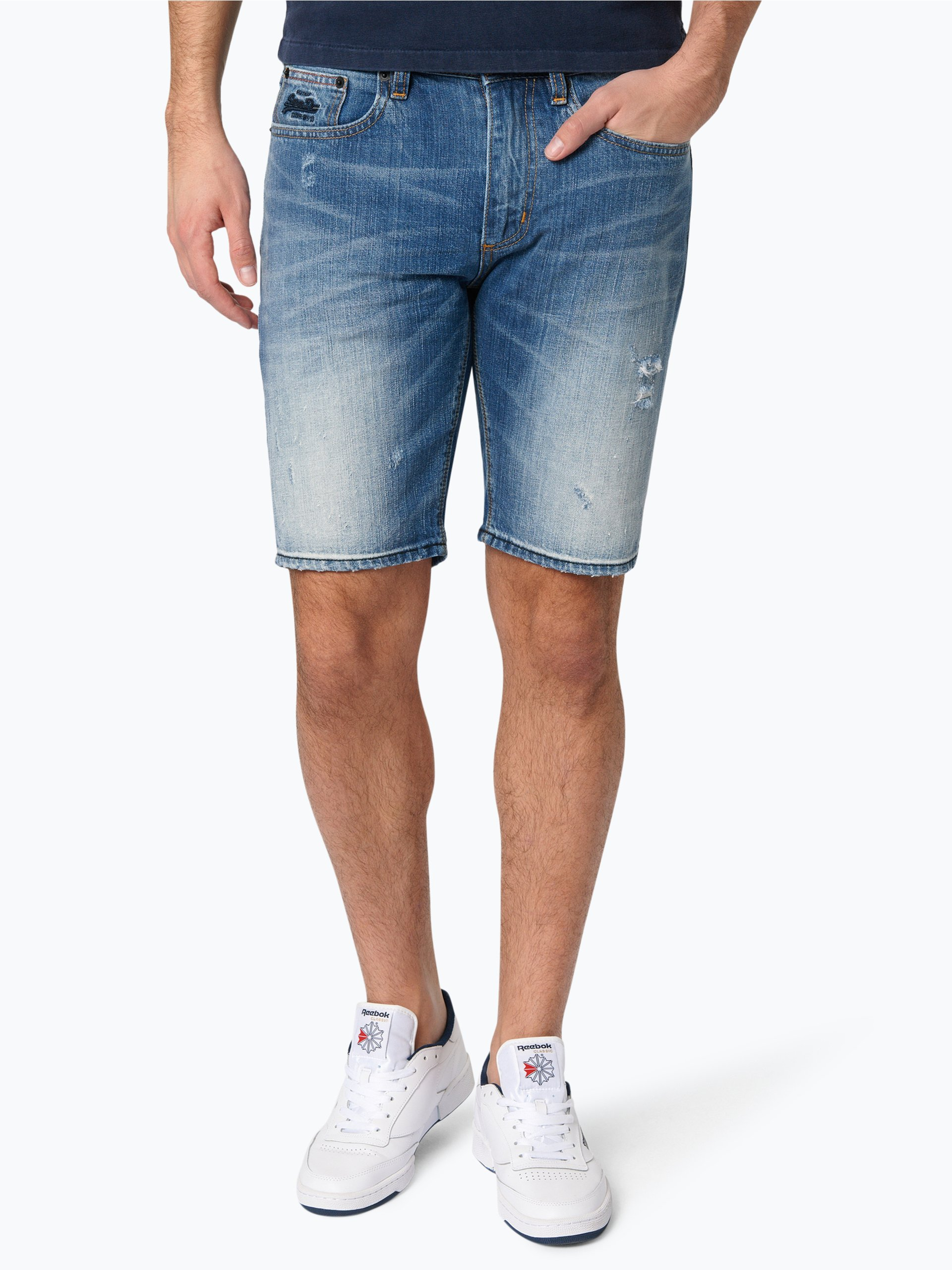 superdry herren jeans shorts officer online kaufen vangraaf com. Black Bedroom Furniture Sets. Home Design Ideas