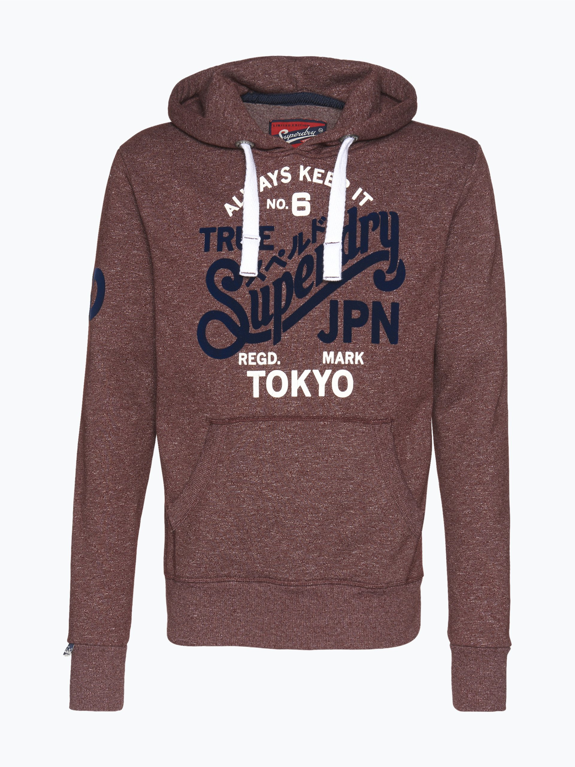 superdry herren sweatshirt keep it no 6 grau uni online. Black Bedroom Furniture Sets. Home Design Ideas