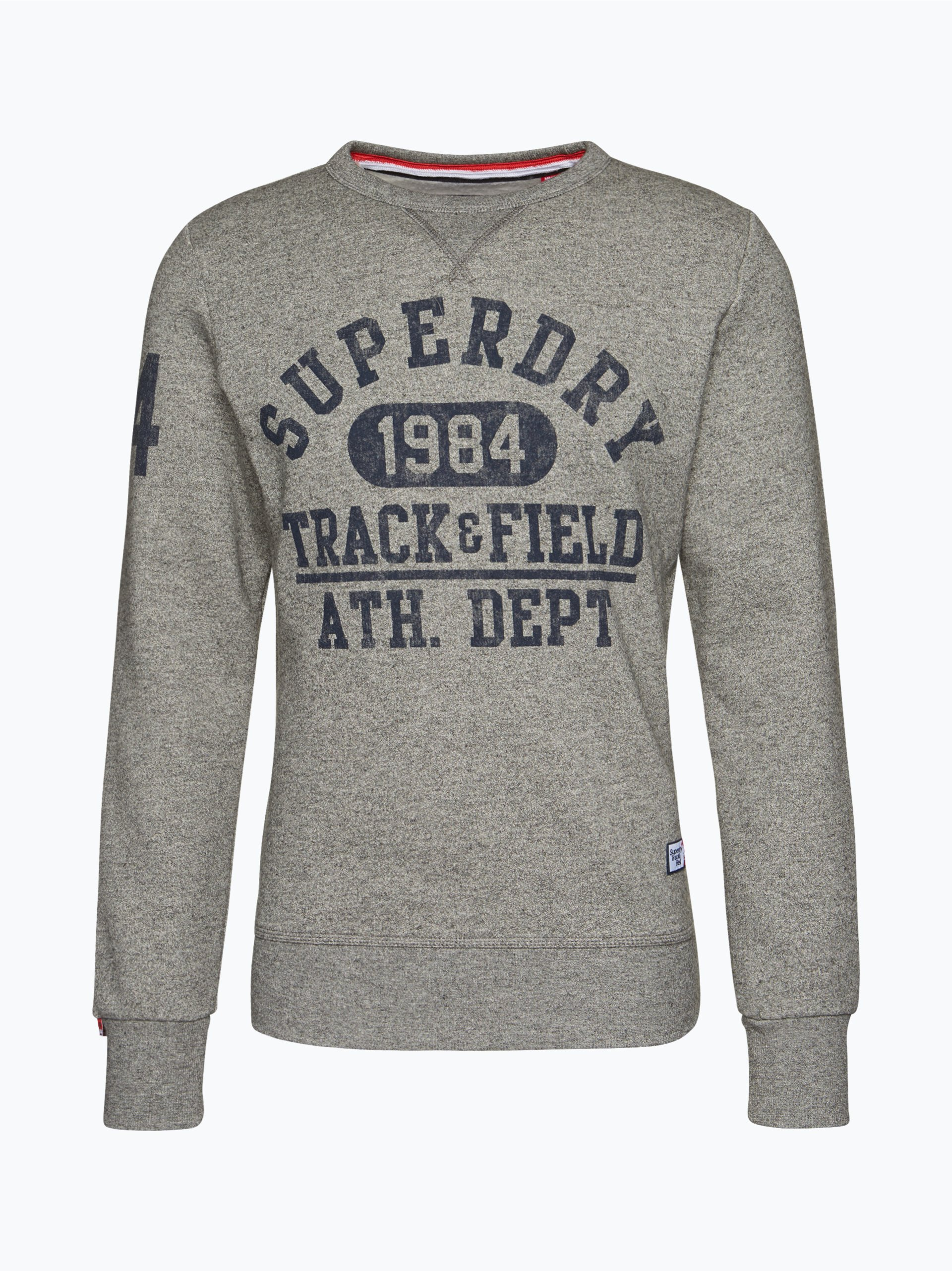 superdry herren sweatshirt grau uni online kaufen peek. Black Bedroom Furniture Sets. Home Design Ideas