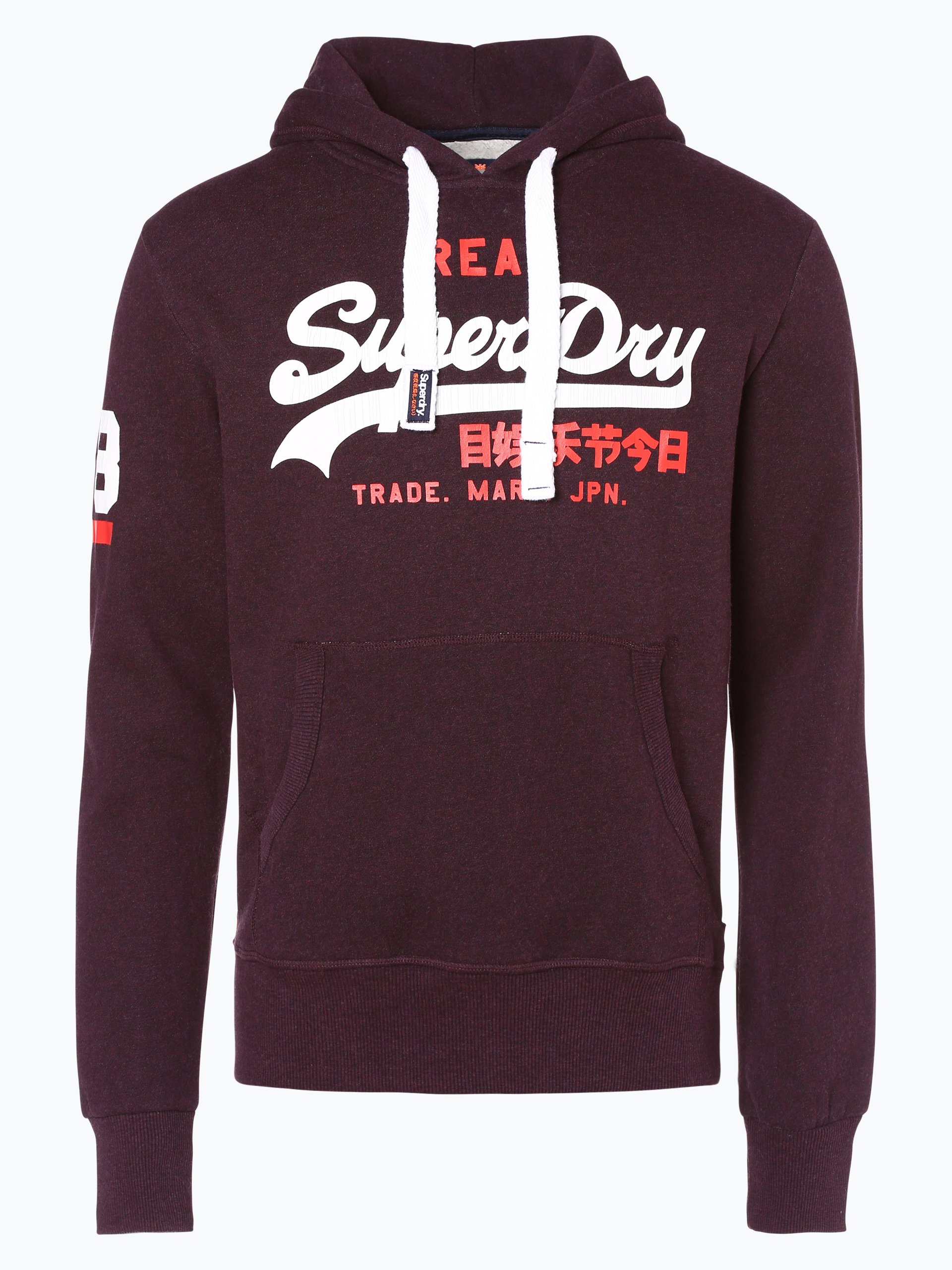 superdry herren sweatshirt schwarz aubergine gemustert. Black Bedroom Furniture Sets. Home Design Ideas