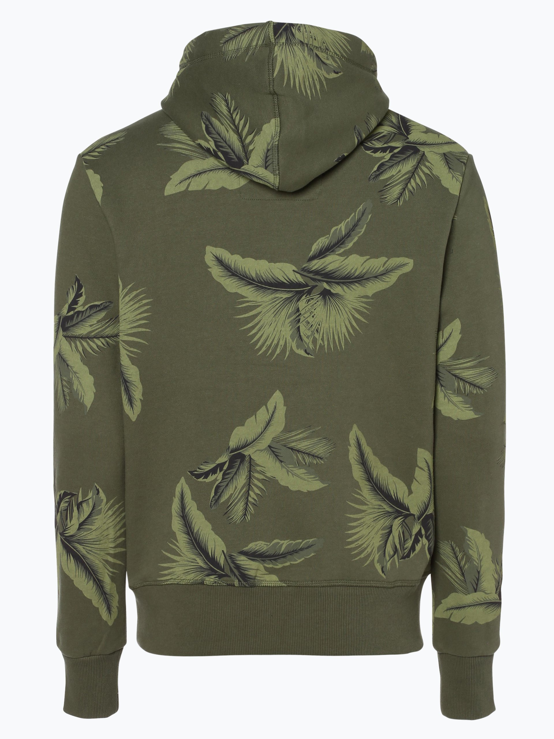superdry herren sweatshirt oliv gr n gemustert online. Black Bedroom Furniture Sets. Home Design Ideas