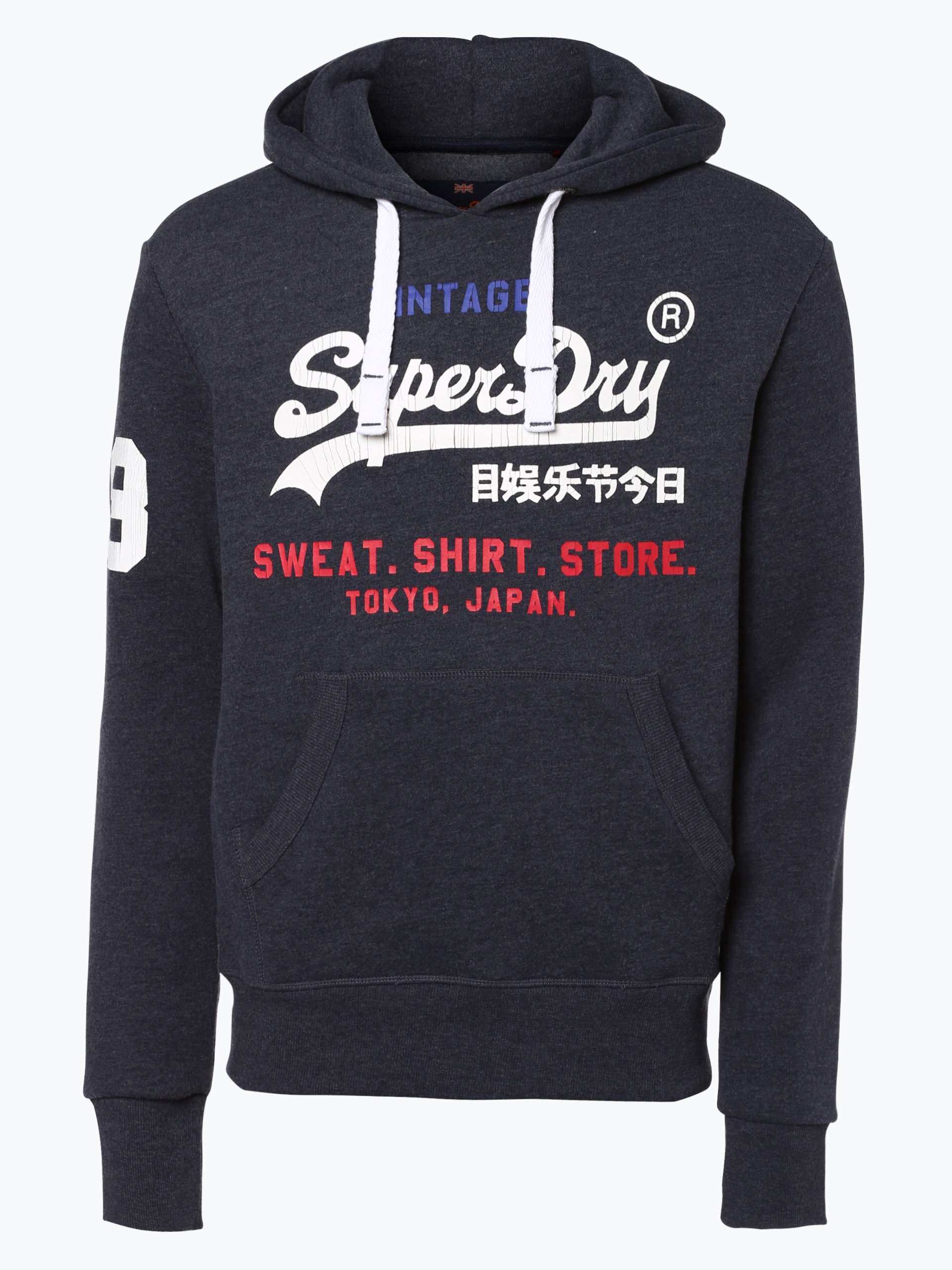 superdry herren sweatshirt marine gemustert online kaufen. Black Bedroom Furniture Sets. Home Design Ideas