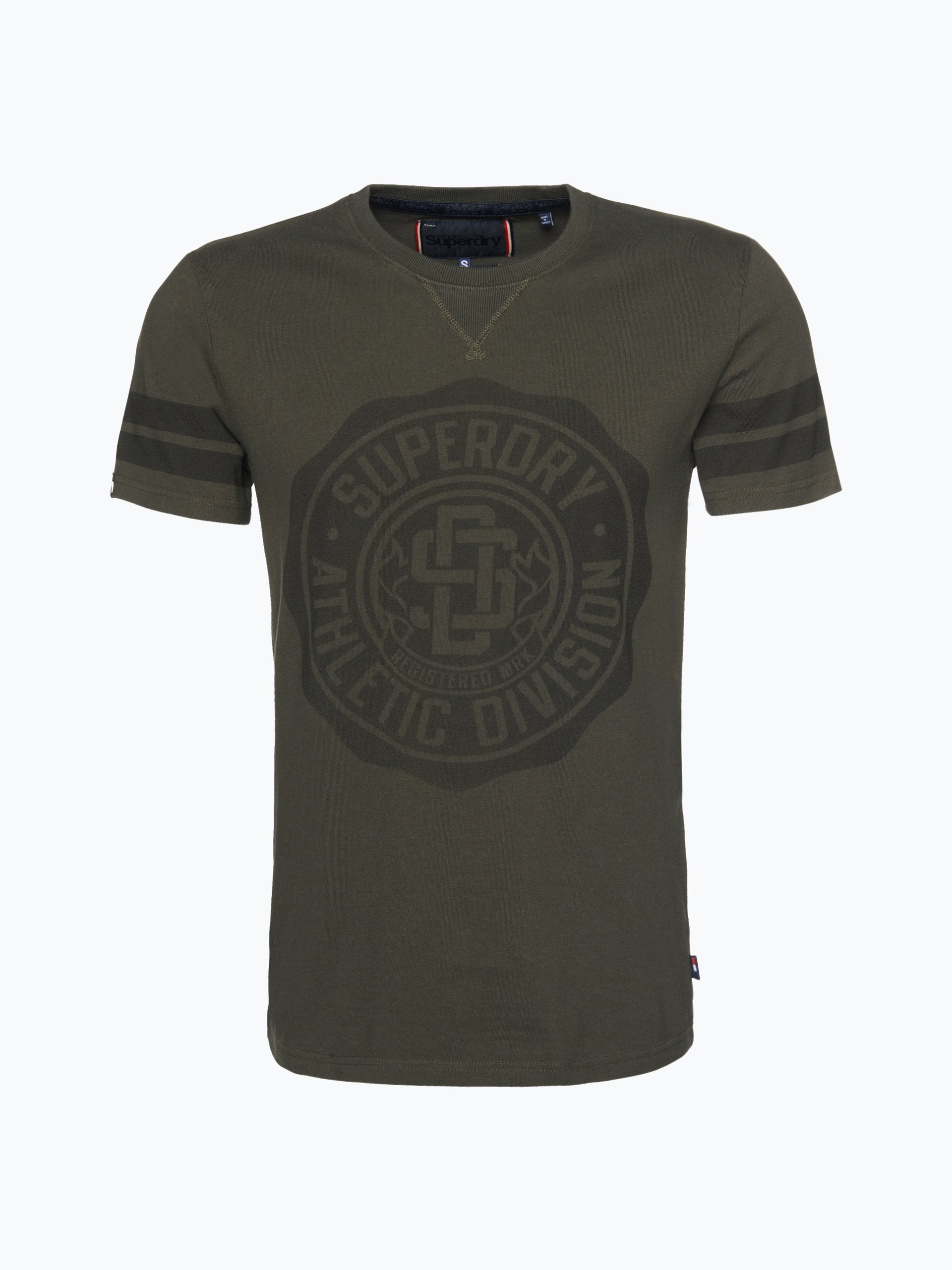 superdry herren t shirt oliv uni online kaufen vangraaf com. Black Bedroom Furniture Sets. Home Design Ideas