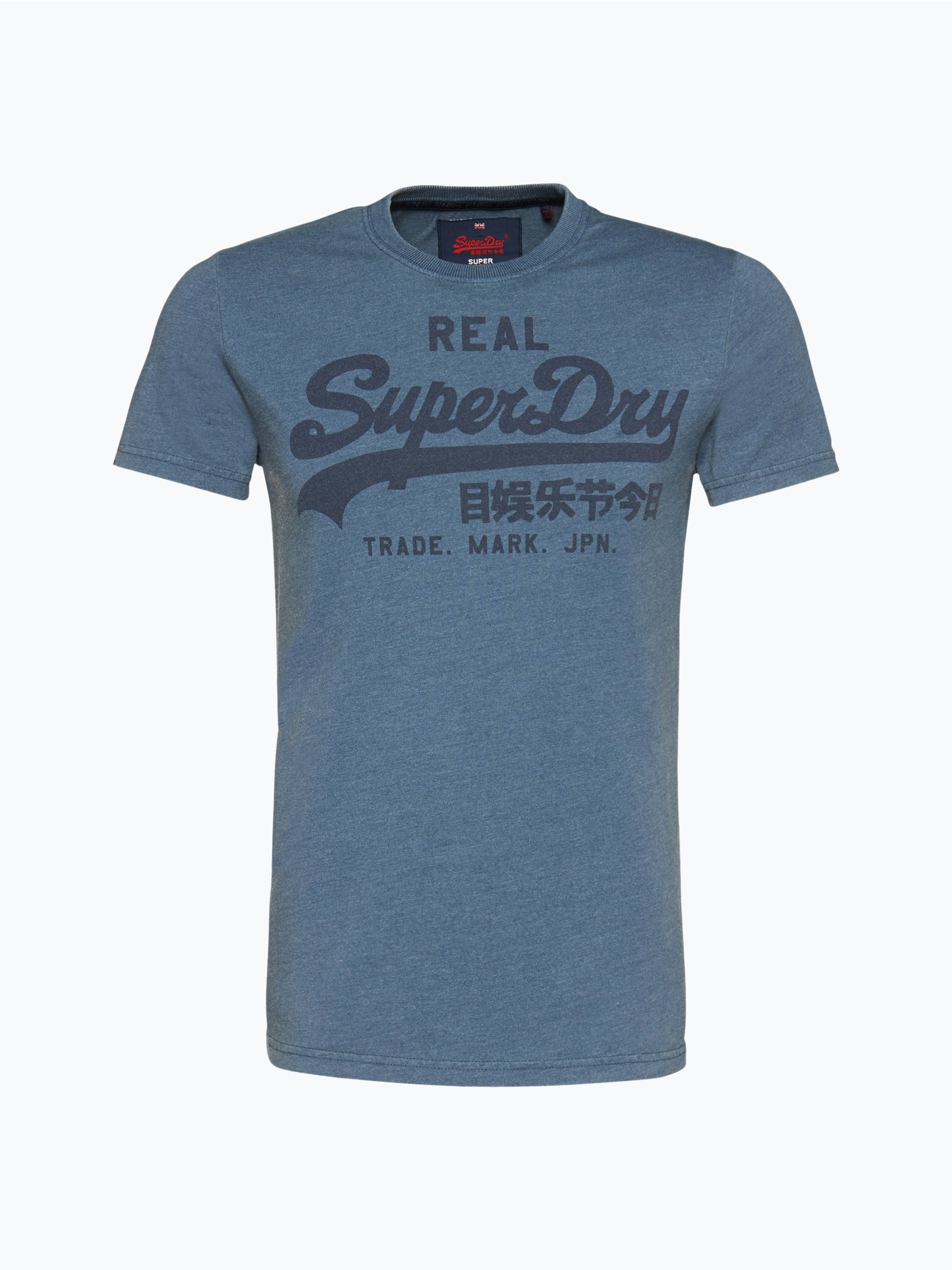 superdry herren t shirt hellblau gemustert online kaufen. Black Bedroom Furniture Sets. Home Design Ideas
