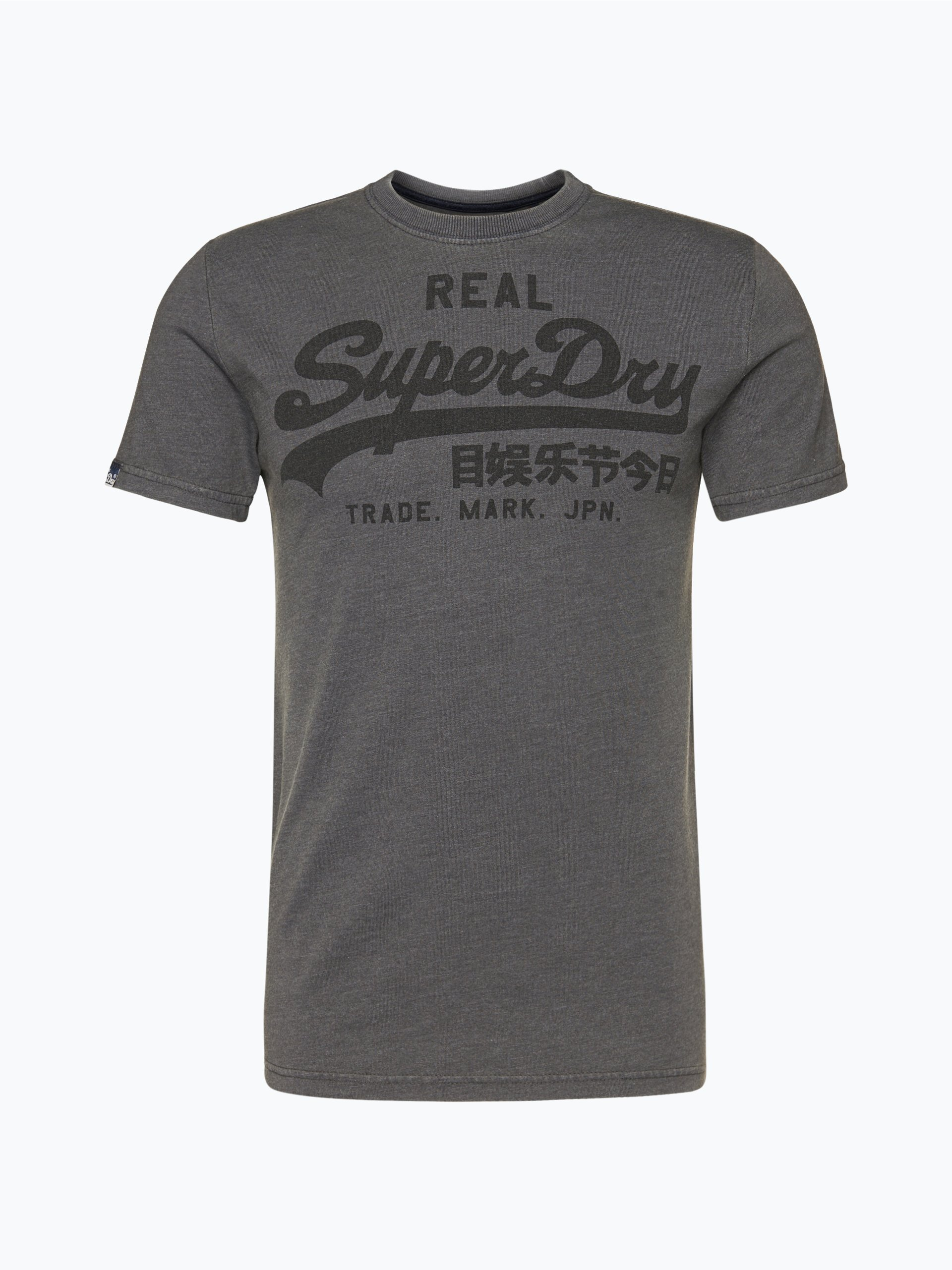 superdry herren t shirt grau gemustert online kaufen. Black Bedroom Furniture Sets. Home Design Ideas