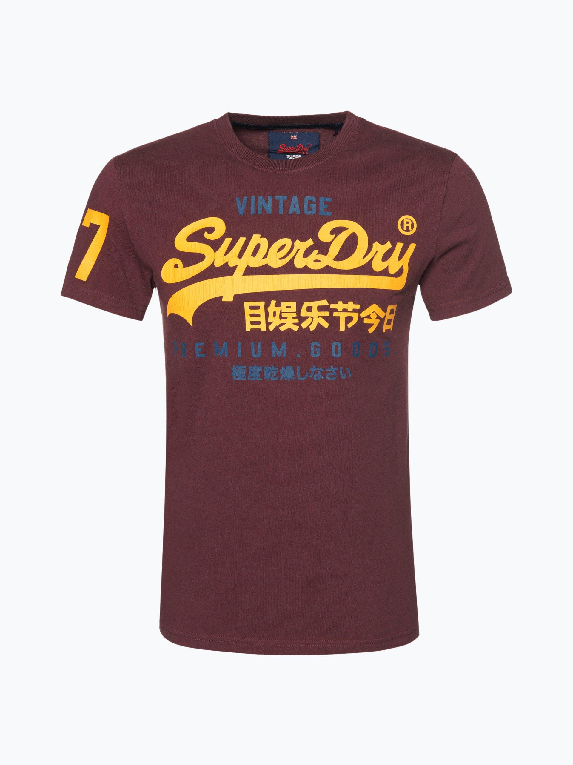 superdry herren t shirt royal uni online kaufen vangraaf com. Black Bedroom Furniture Sets. Home Design Ideas