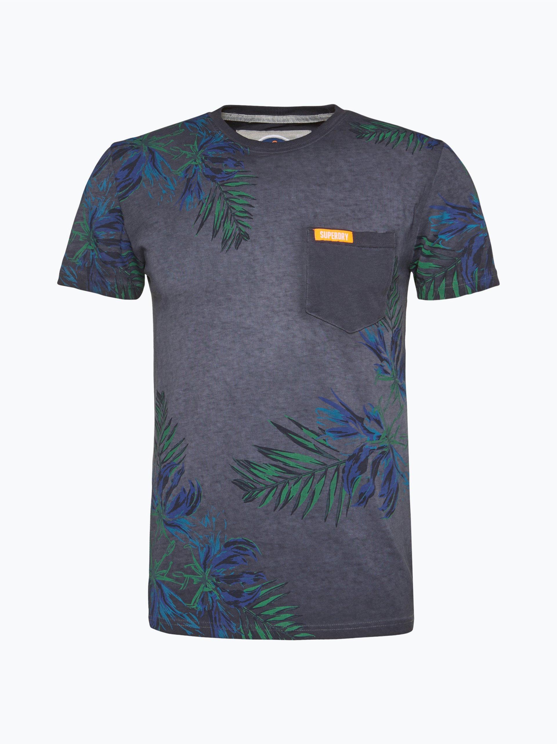 superdry herren t shirt marine gemustert online kaufen vangraaf com. Black Bedroom Furniture Sets. Home Design Ideas