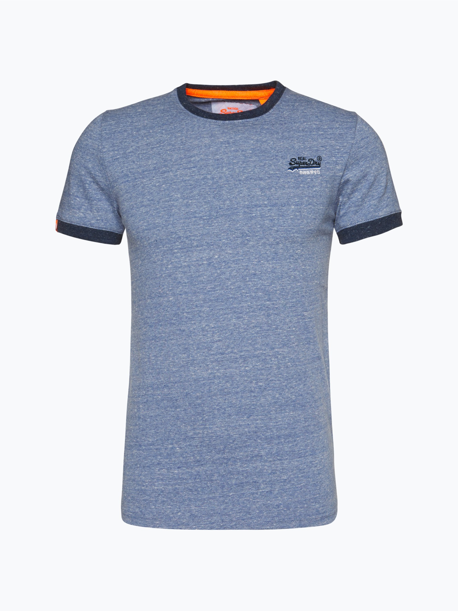 superdry herren t shirt indigo uni online kaufen. Black Bedroom Furniture Sets. Home Design Ideas