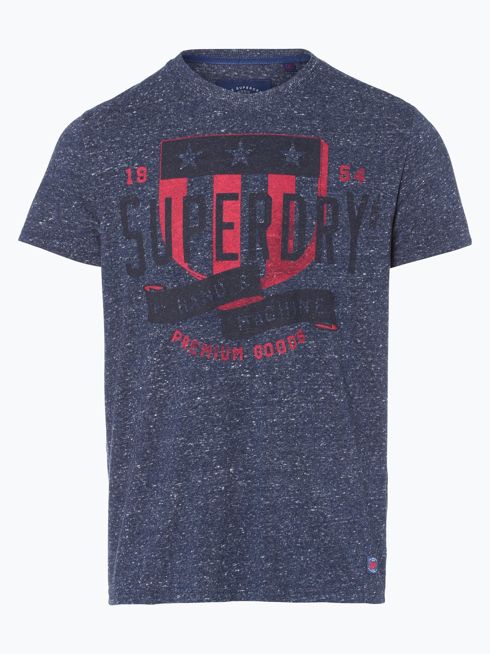 superdry herren t shirt marine uni online kaufen vangraaf com. Black Bedroom Furniture Sets. Home Design Ideas