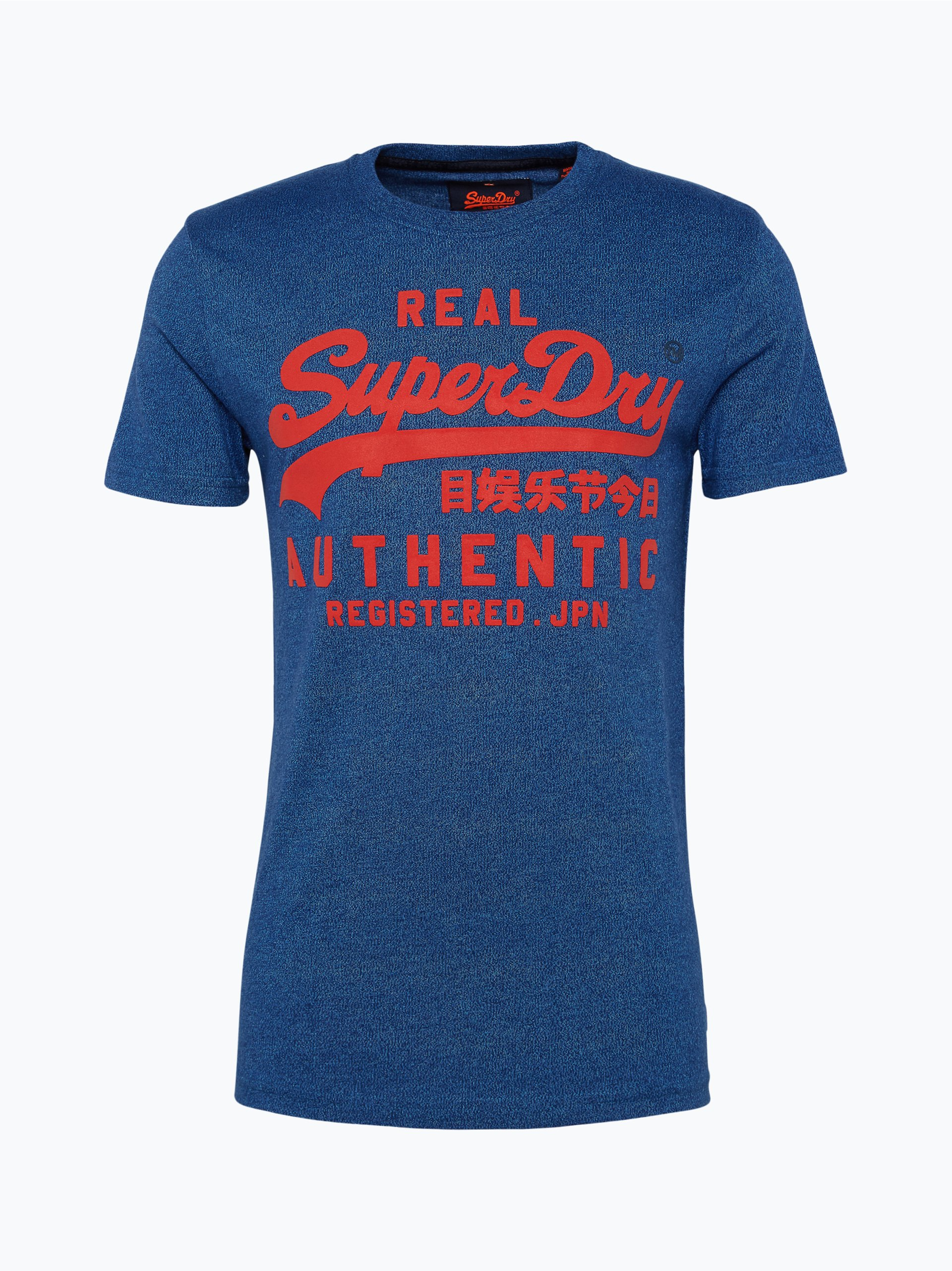 superdry herren t shirt blau uni online kaufen peek und. Black Bedroom Furniture Sets. Home Design Ideas