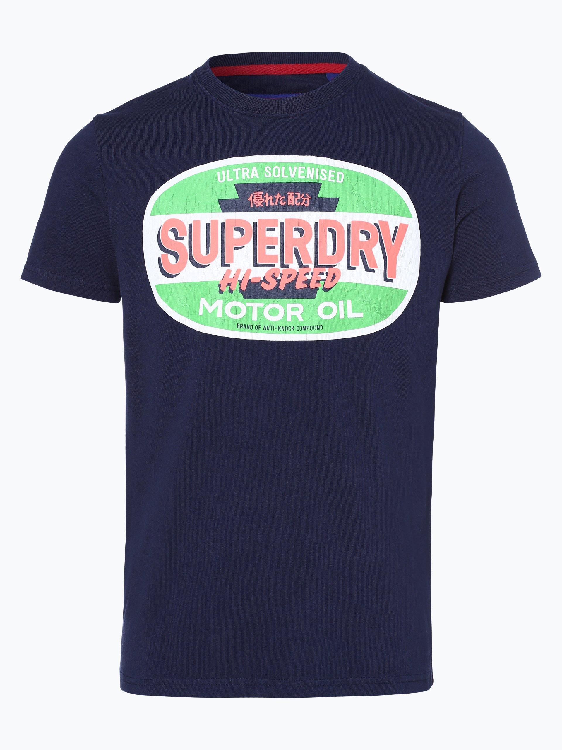 superdry herren t shirt marine uni online kaufen peek und cloppenburg de. Black Bedroom Furniture Sets. Home Design Ideas