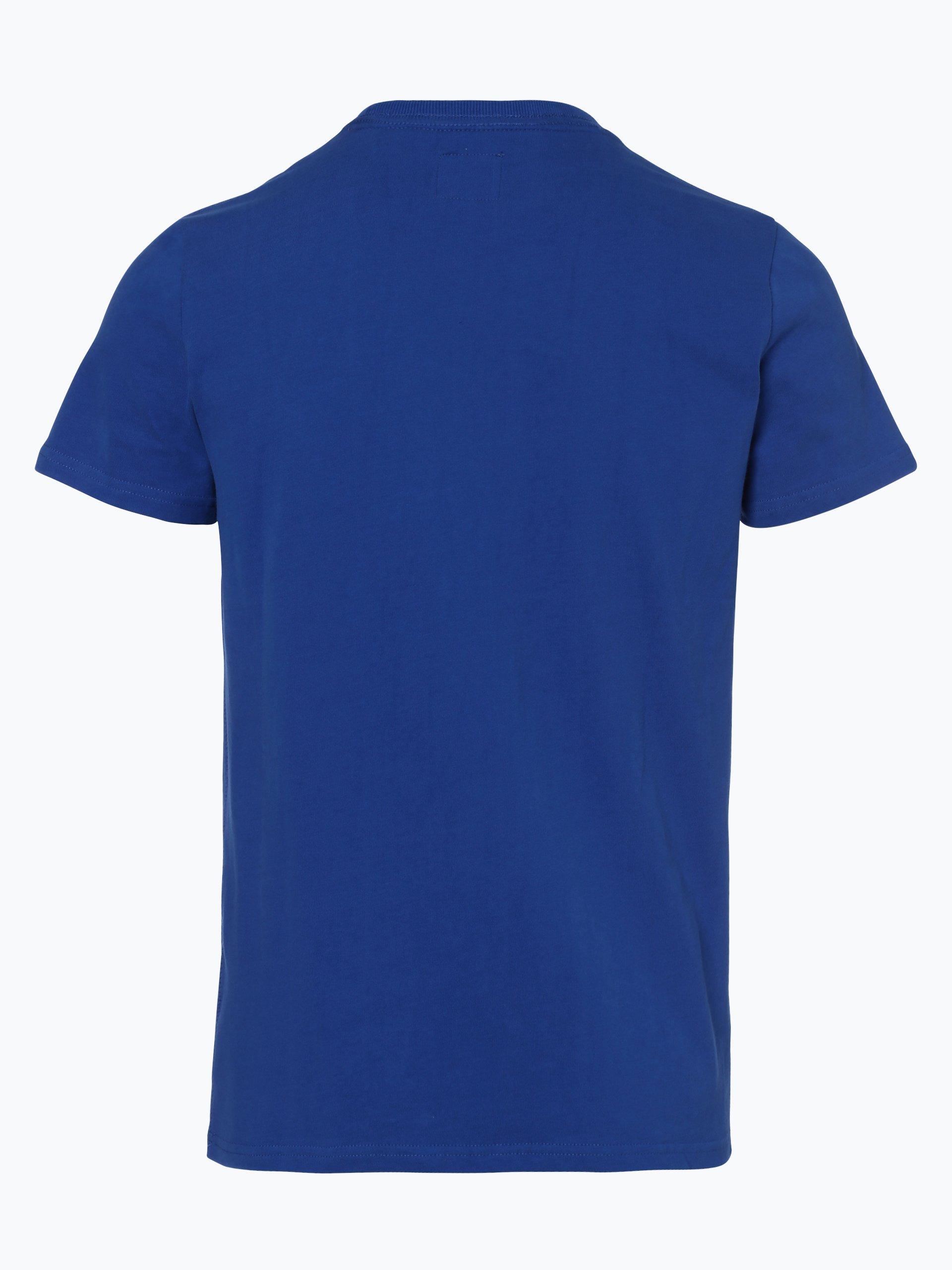 superdry herren t shirt blau bedruckt online kaufen peek und cloppenburg de. Black Bedroom Furniture Sets. Home Design Ideas