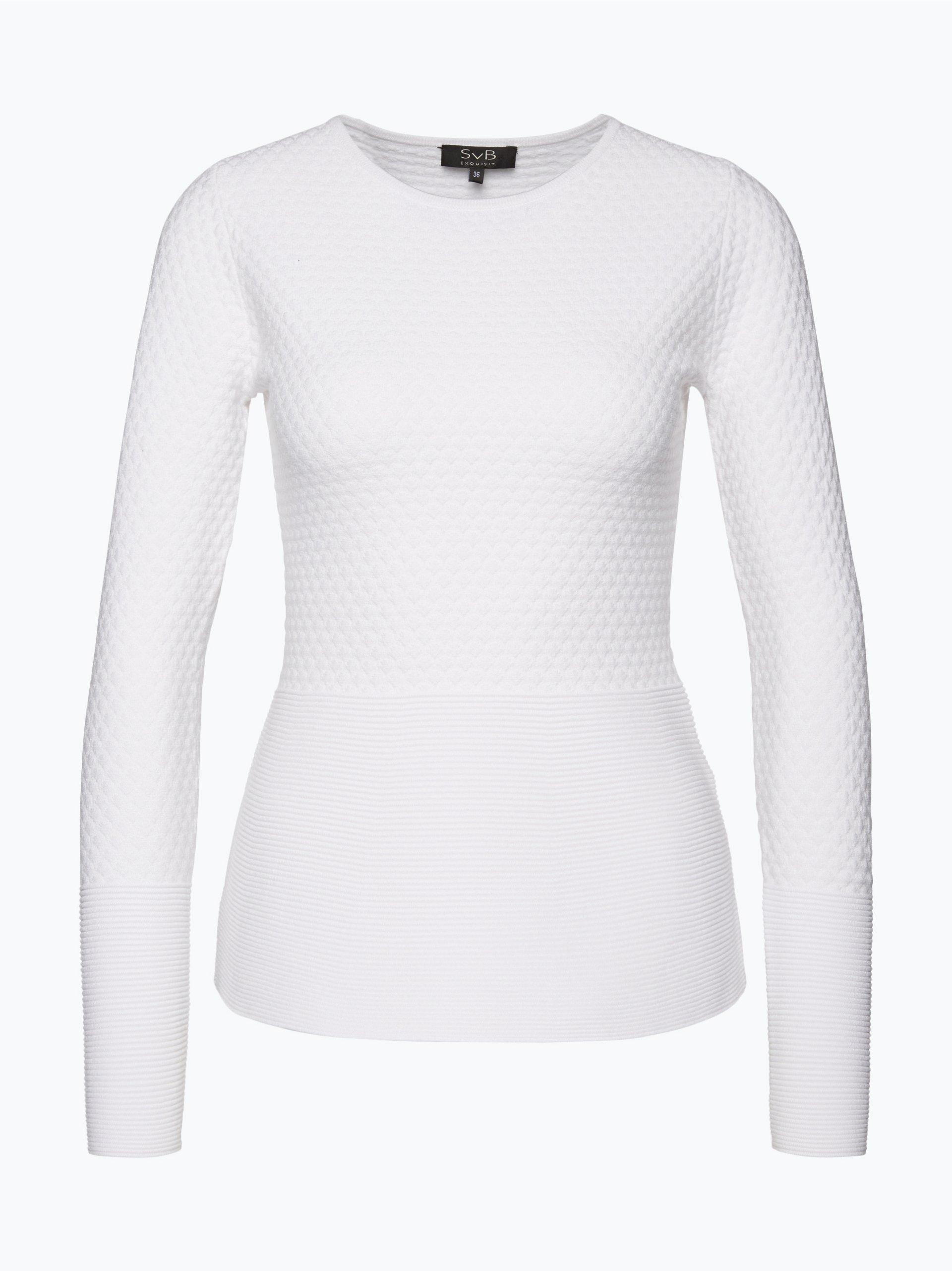 svb exquisit damen pullover wei uni online kaufen peek. Black Bedroom Furniture Sets. Home Design Ideas
