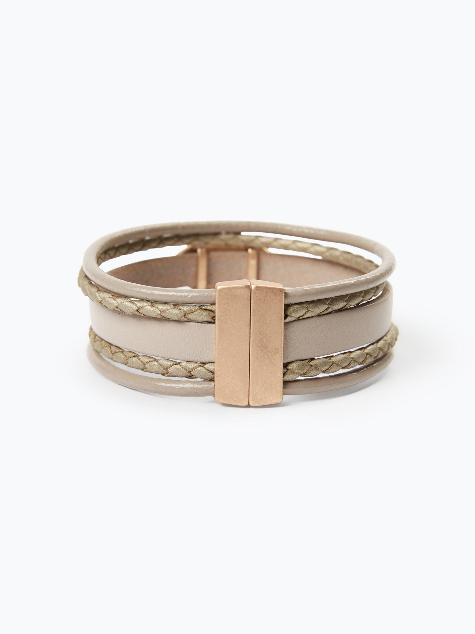 sweet deluxe damen armband in leder optik nuna grau uni. Black Bedroom Furniture Sets. Home Design Ideas
