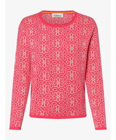 Sweter damski z dodatkiem wełny merino i kaszmiru