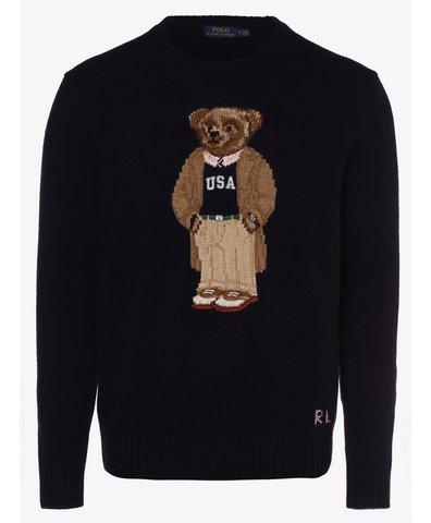 Sweter męski z dodatkiem kaszmiru i wełny wielbłąda