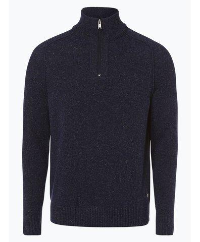 Sweter męski z dodatkiem lnu