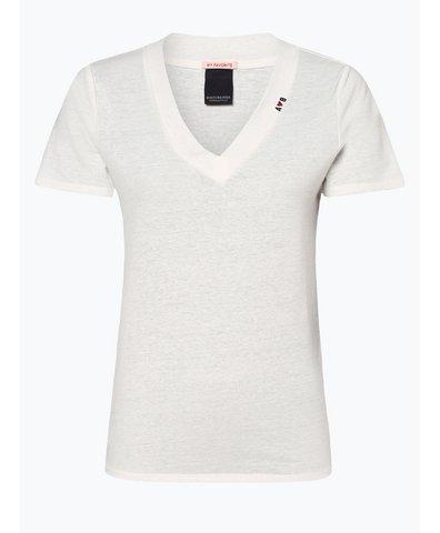T-shirt damski z dodatkiem lnu